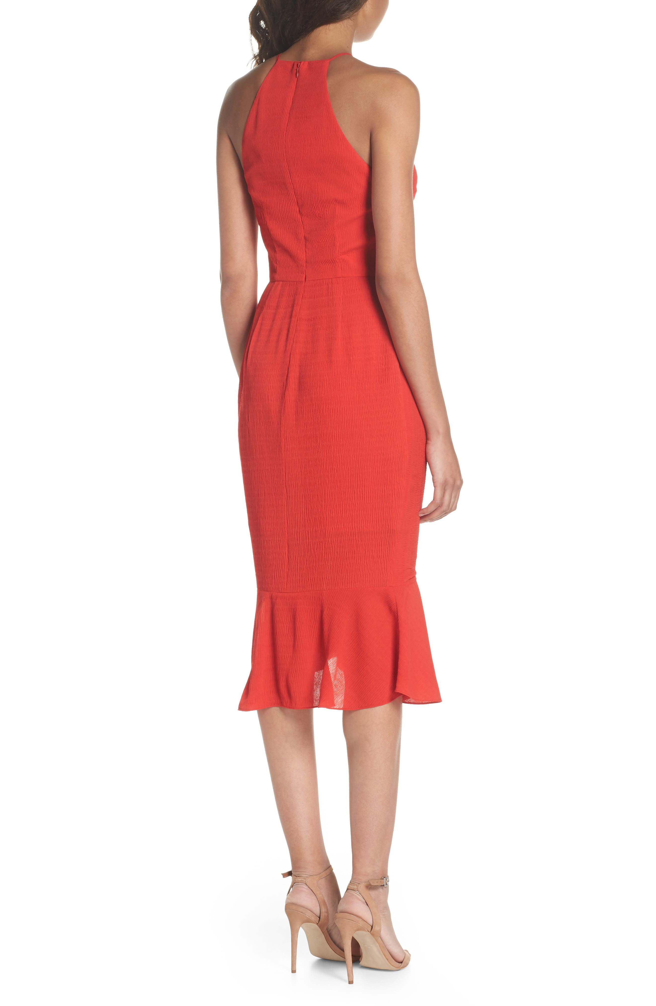 Ti Amo Ruched Halter Dress,                             Alternate thumbnail 2, color,                             620