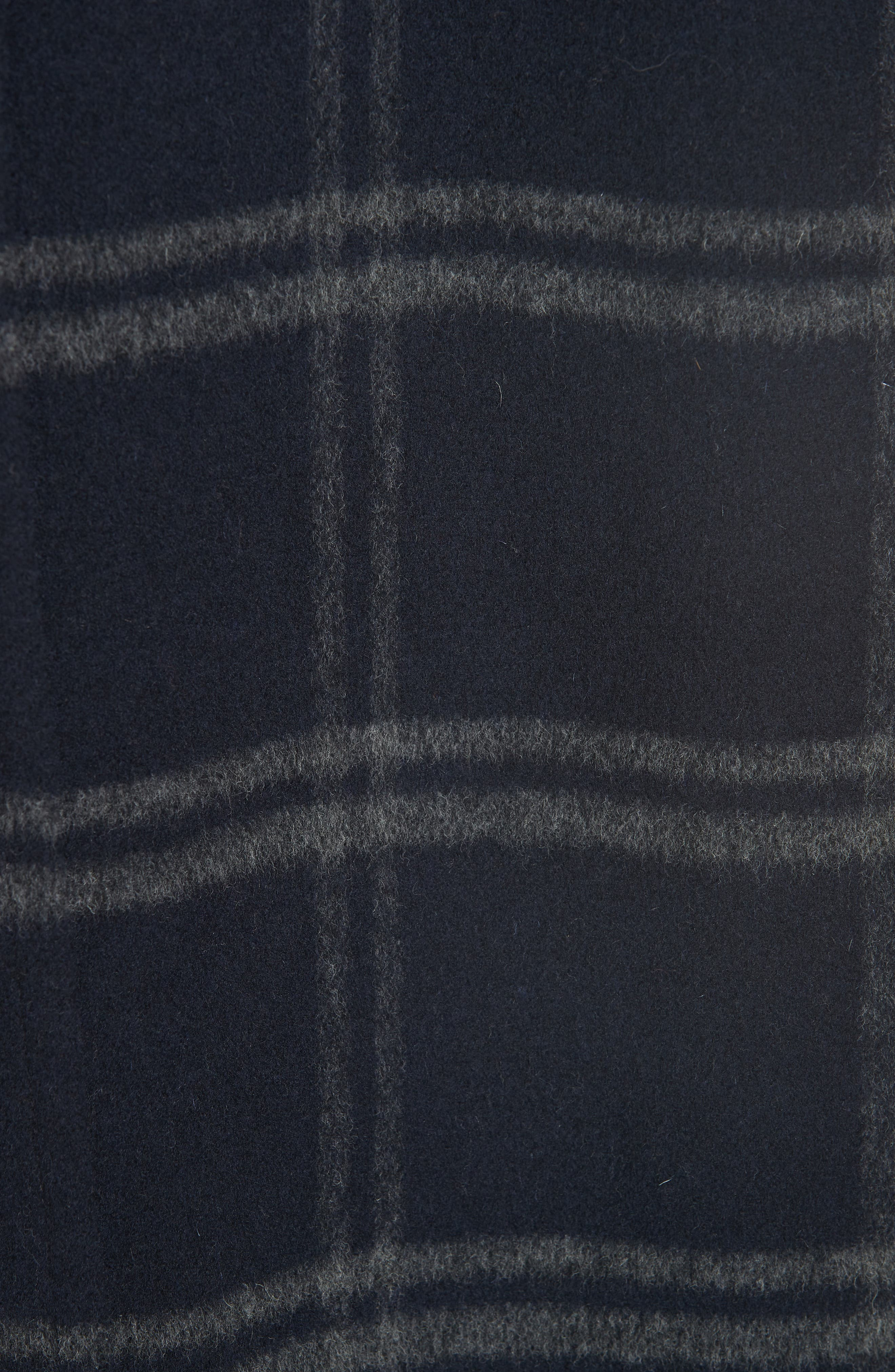 Shadow Plaid Coat,                             Alternate thumbnail 6, color,                             COASTAL/ GREY