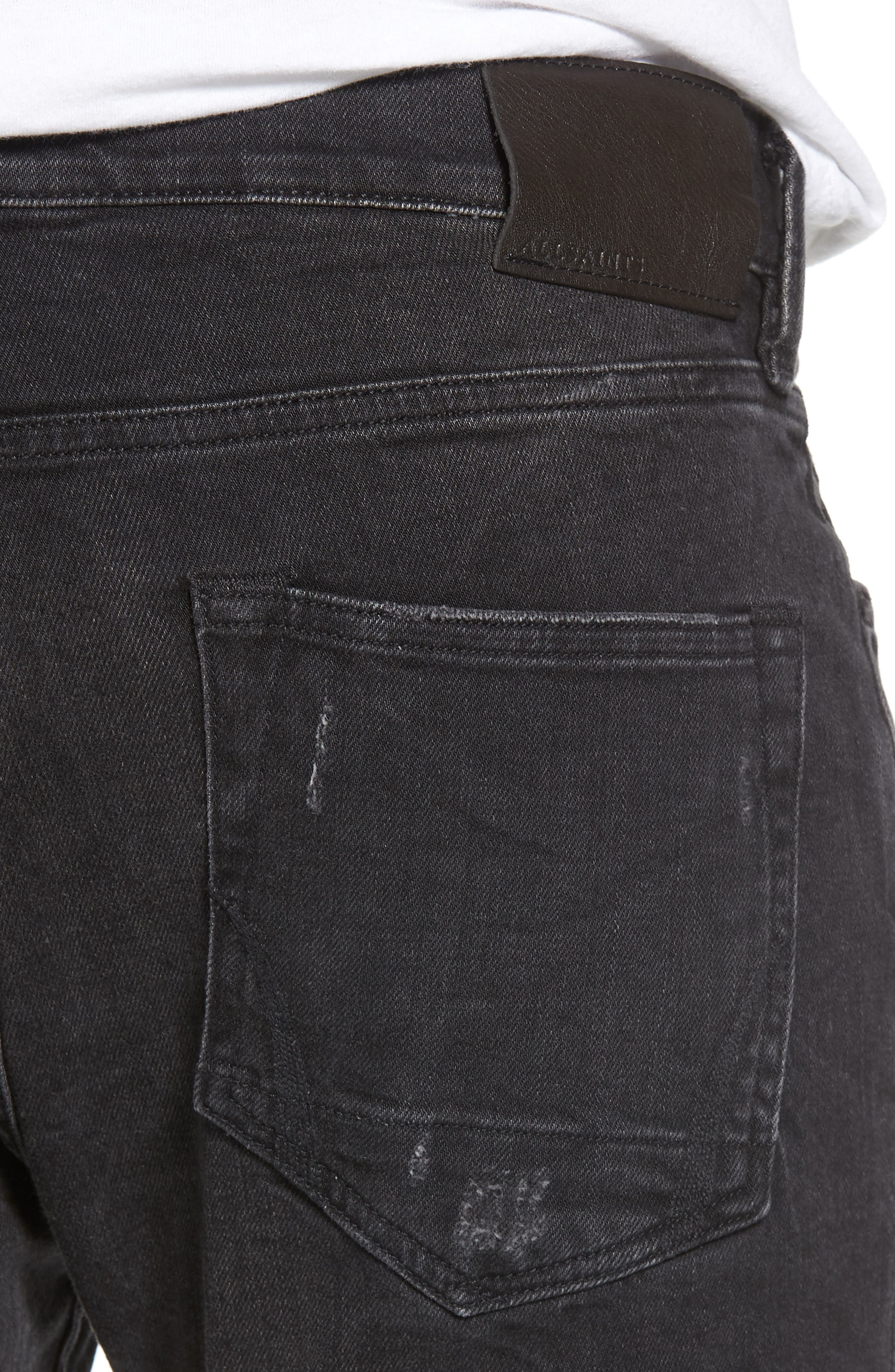 Raveline Skinny Fit Jeans,                             Alternate thumbnail 4, color,                             001