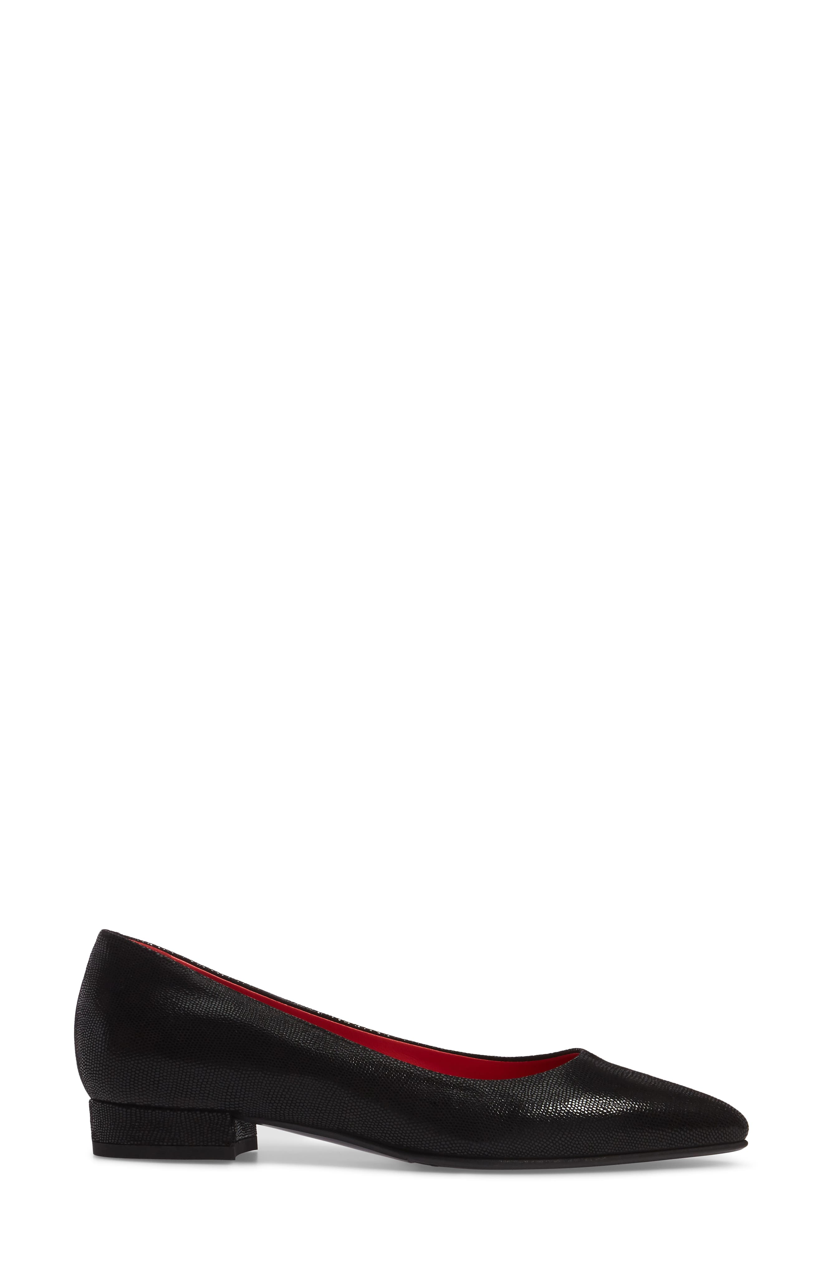 Pointy Toe Low Pump,                             Alternate thumbnail 3, color,                             001