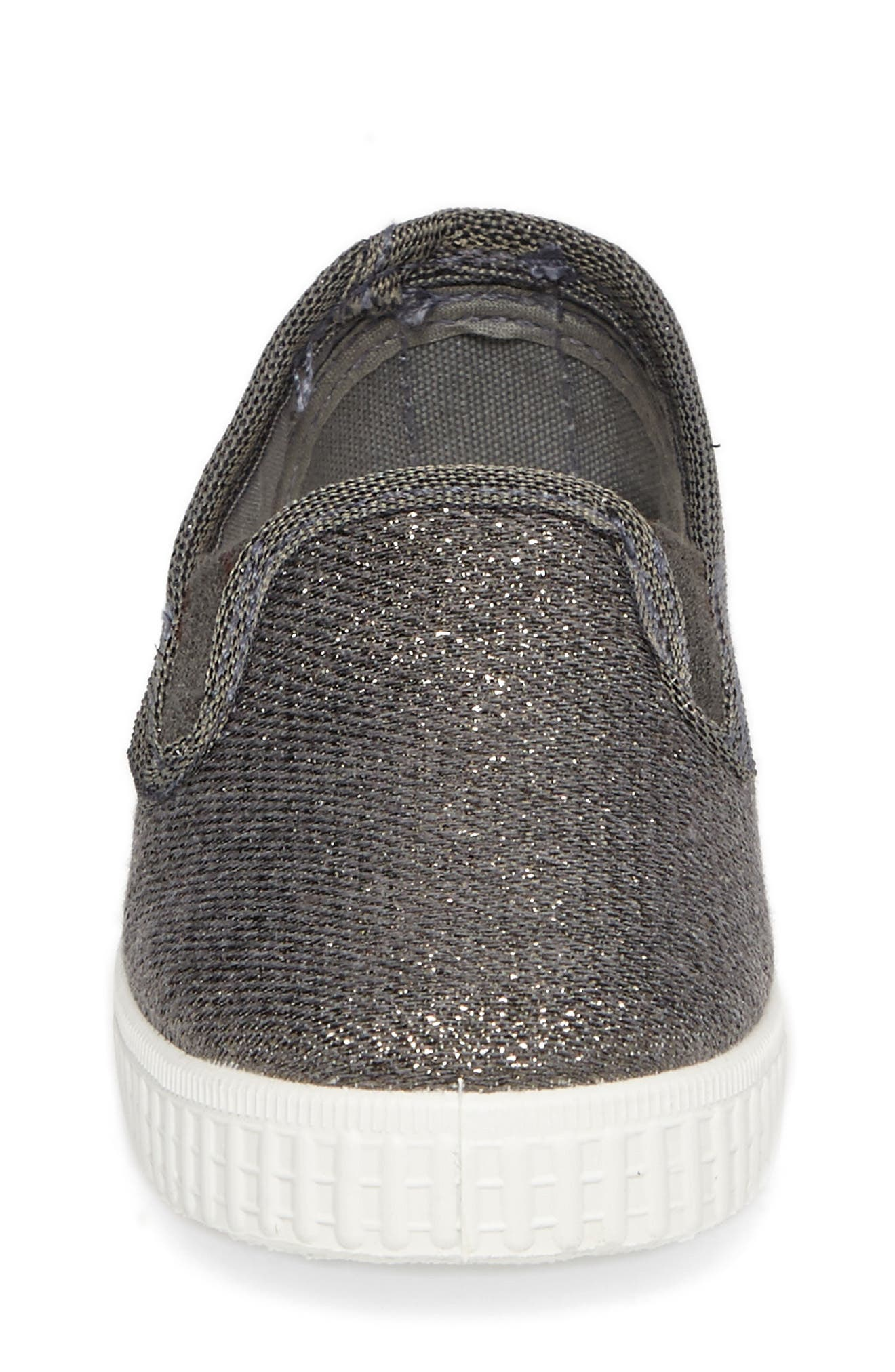 Glitter Slip-On Sneaker,                             Alternate thumbnail 4, color,                             020