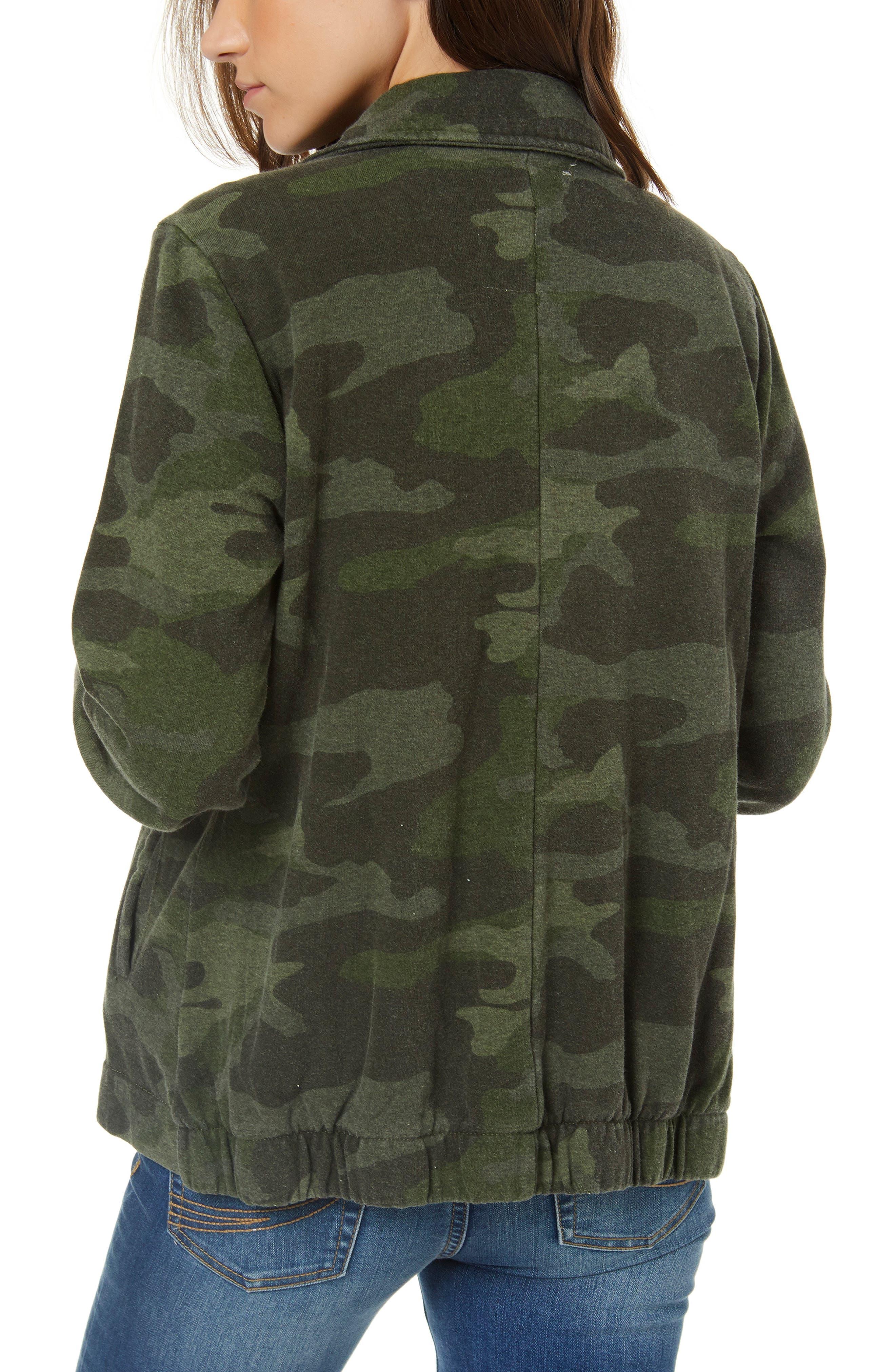 Skylar Camo Fleece Jacket,                             Alternate thumbnail 2, color,                             310