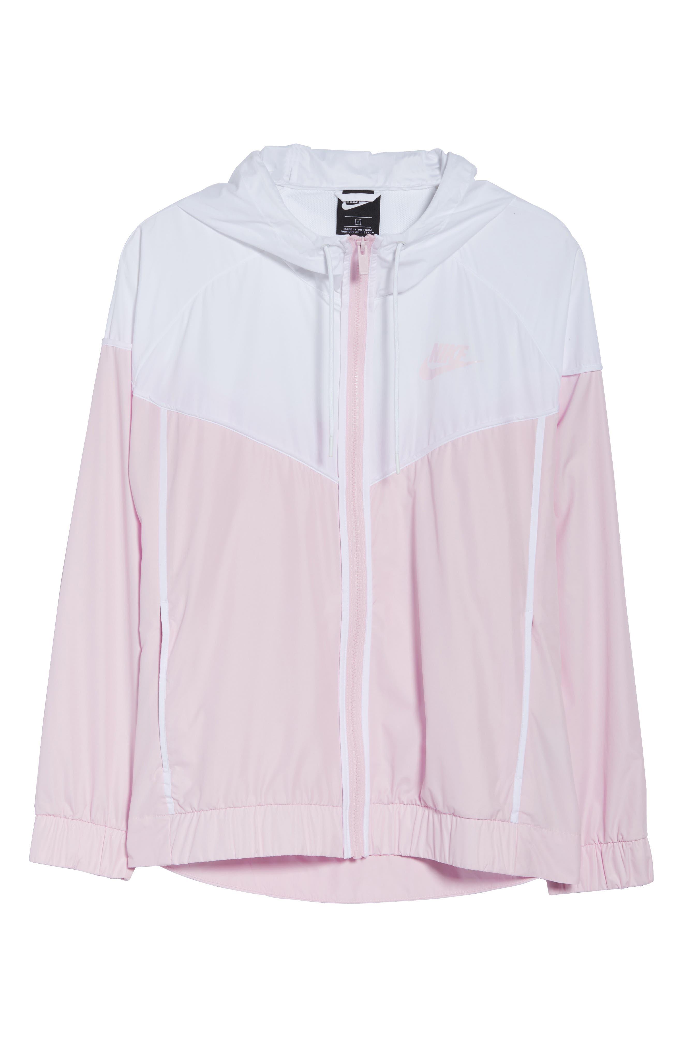 NIKE,                             Sportswear Windrunner Jacket,                             Alternate thumbnail 6, color,                             PINK FOAM/ WHITE/ PINK FOAM