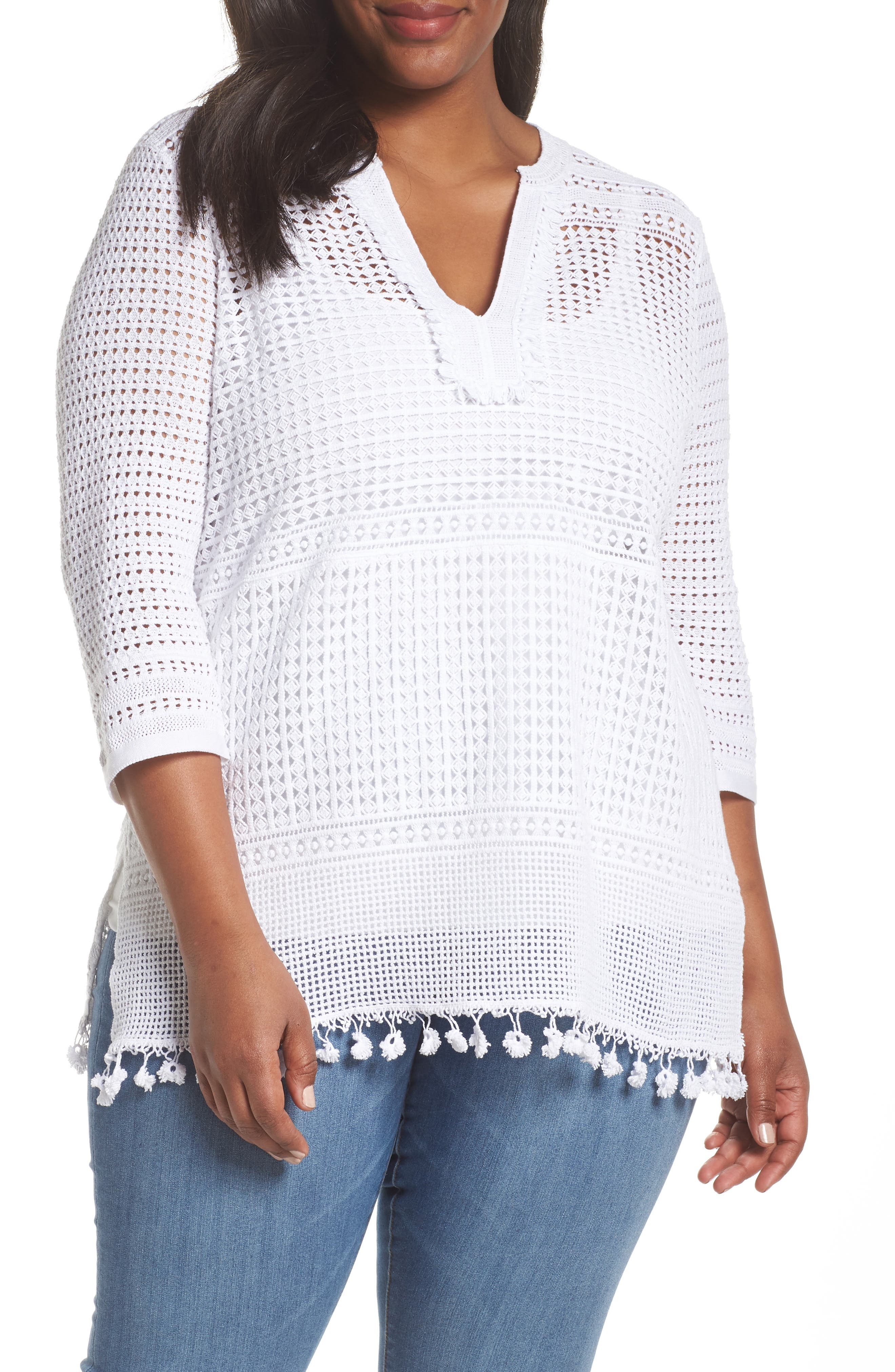 Right on Track Tunic Sweater,                             Main thumbnail 1, color,                             PAPER WHITE