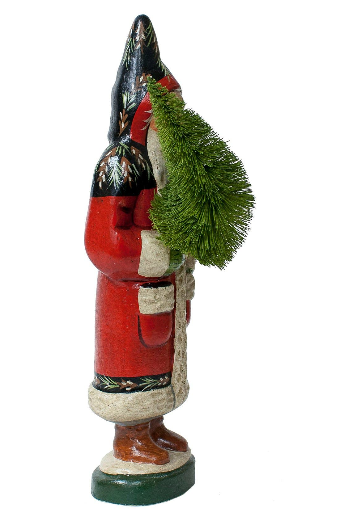 'Santa in Black & Red Coat with Tree' Figurine,                             Alternate thumbnail 4, color,                             600