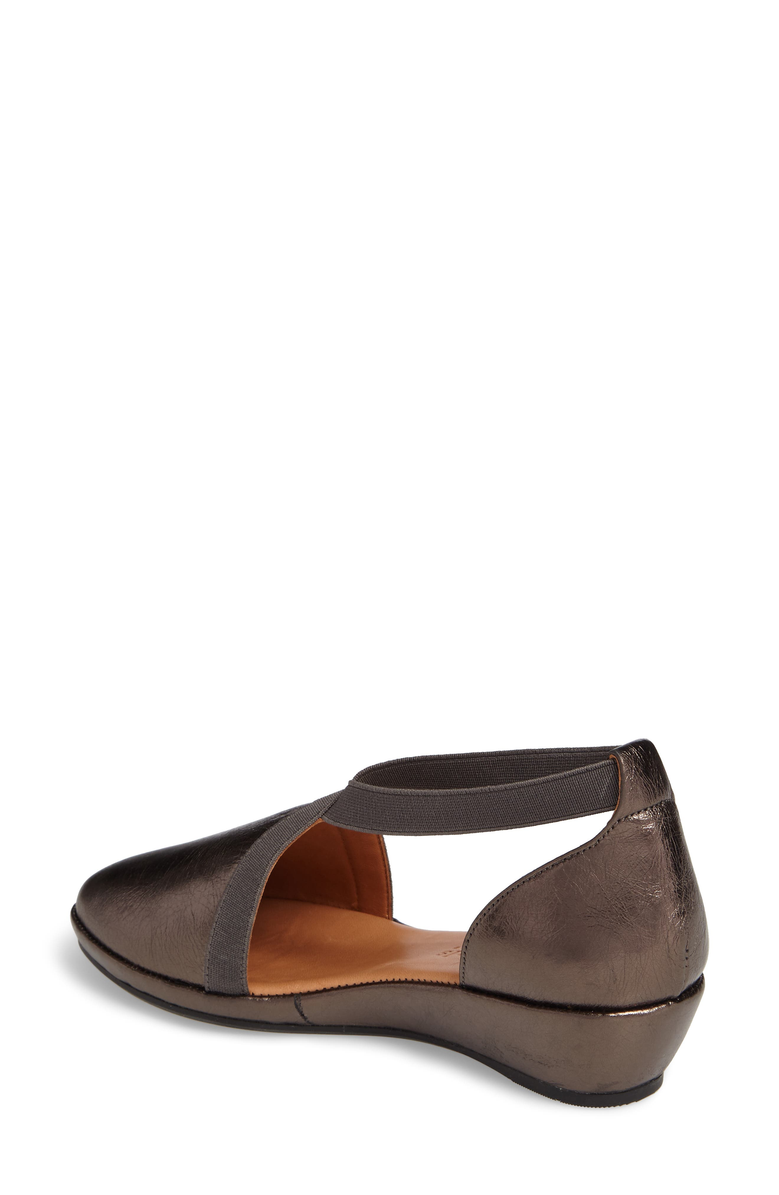 by Kenneth Cole Natalia Wedge,                             Alternate thumbnail 2, color,                             PEWTER LEATHER
