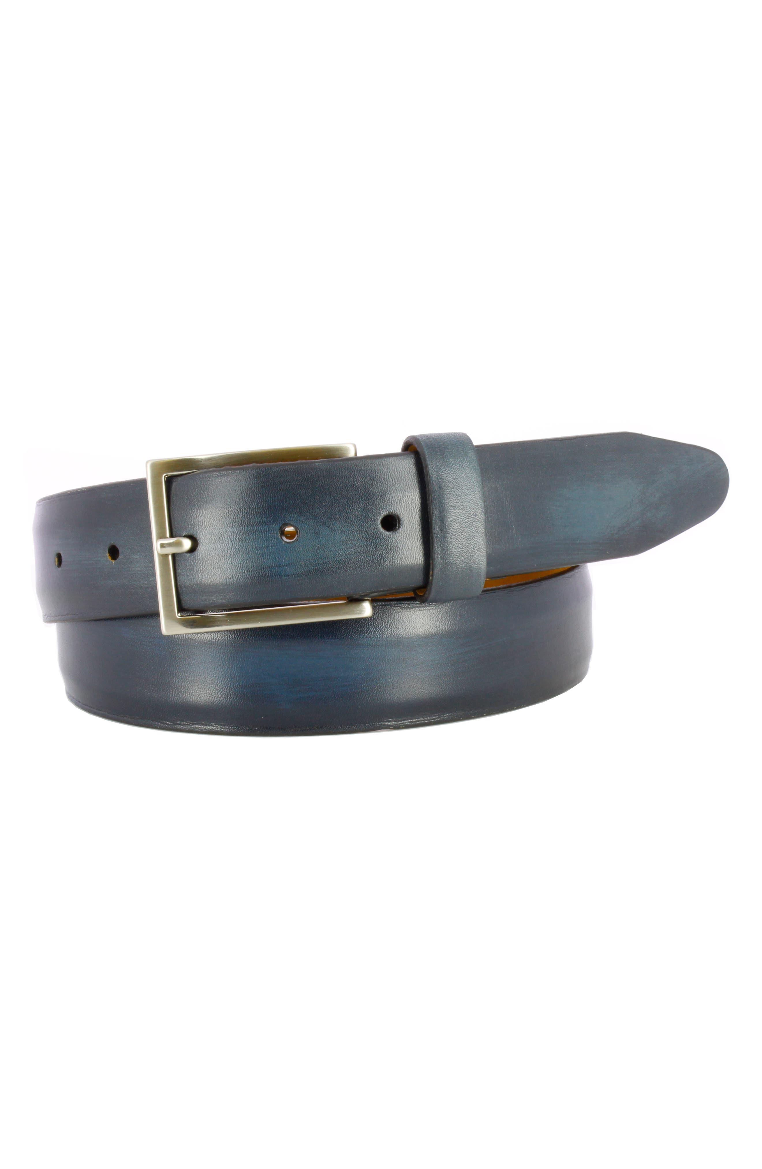 Remo Tulliani Jackson Leather Belt, Navy