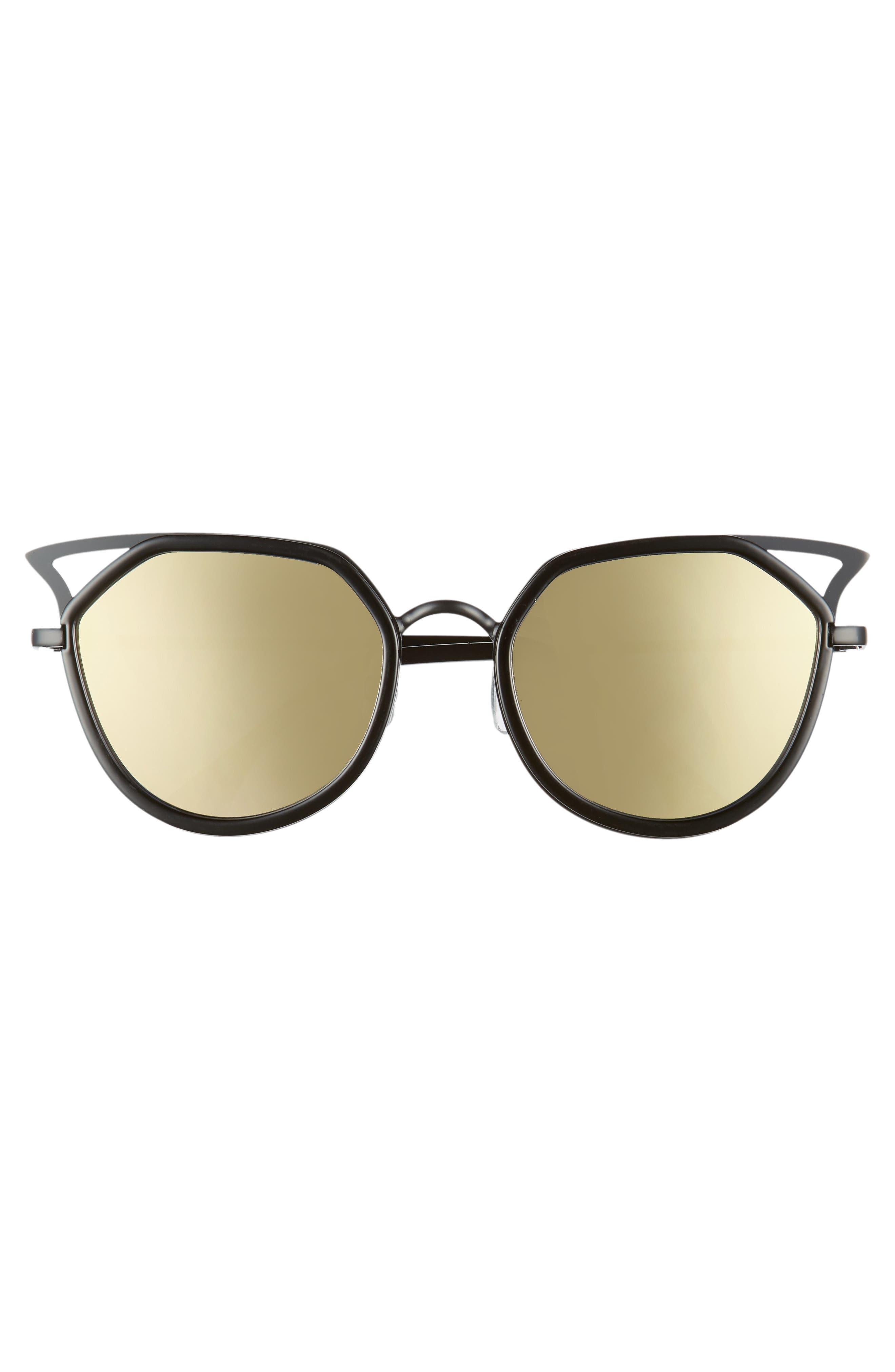 Satellite 60mm Cat Eye Sunglasses,                             Alternate thumbnail 3, color,                             001