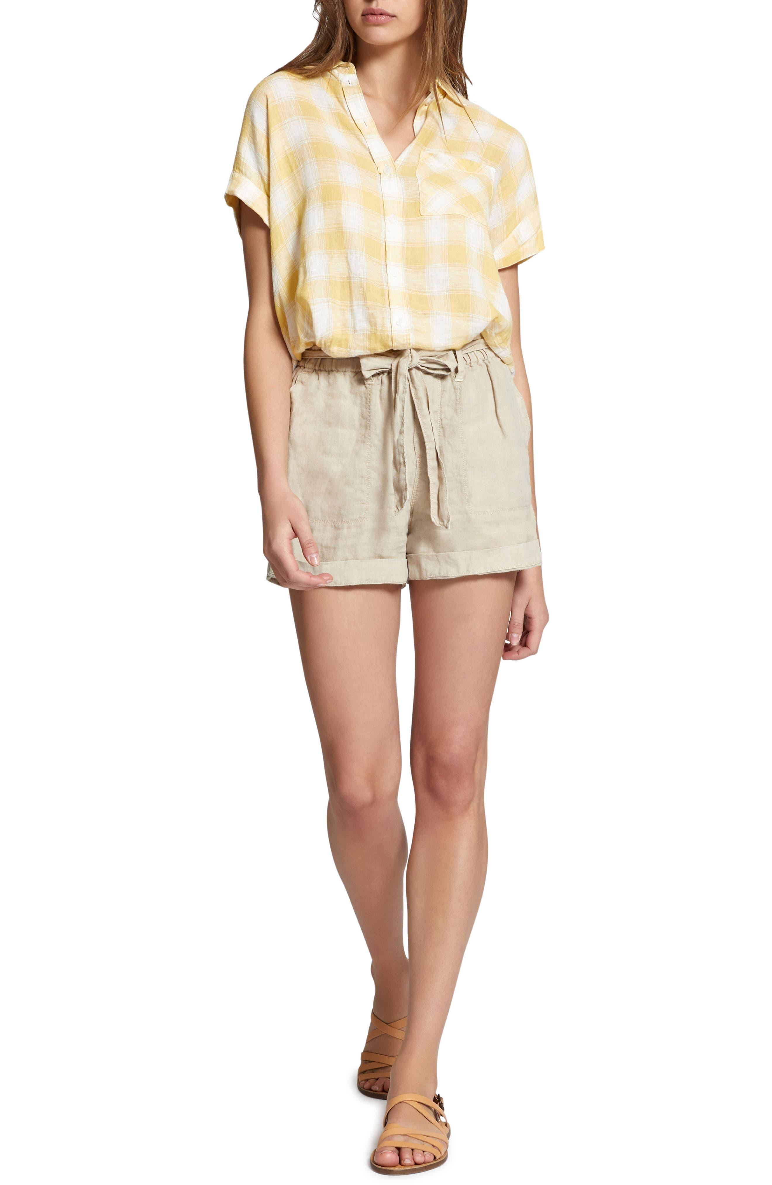 Mod Short Sleeve Boyfriend Shirt,                             Alternate thumbnail 29, color,