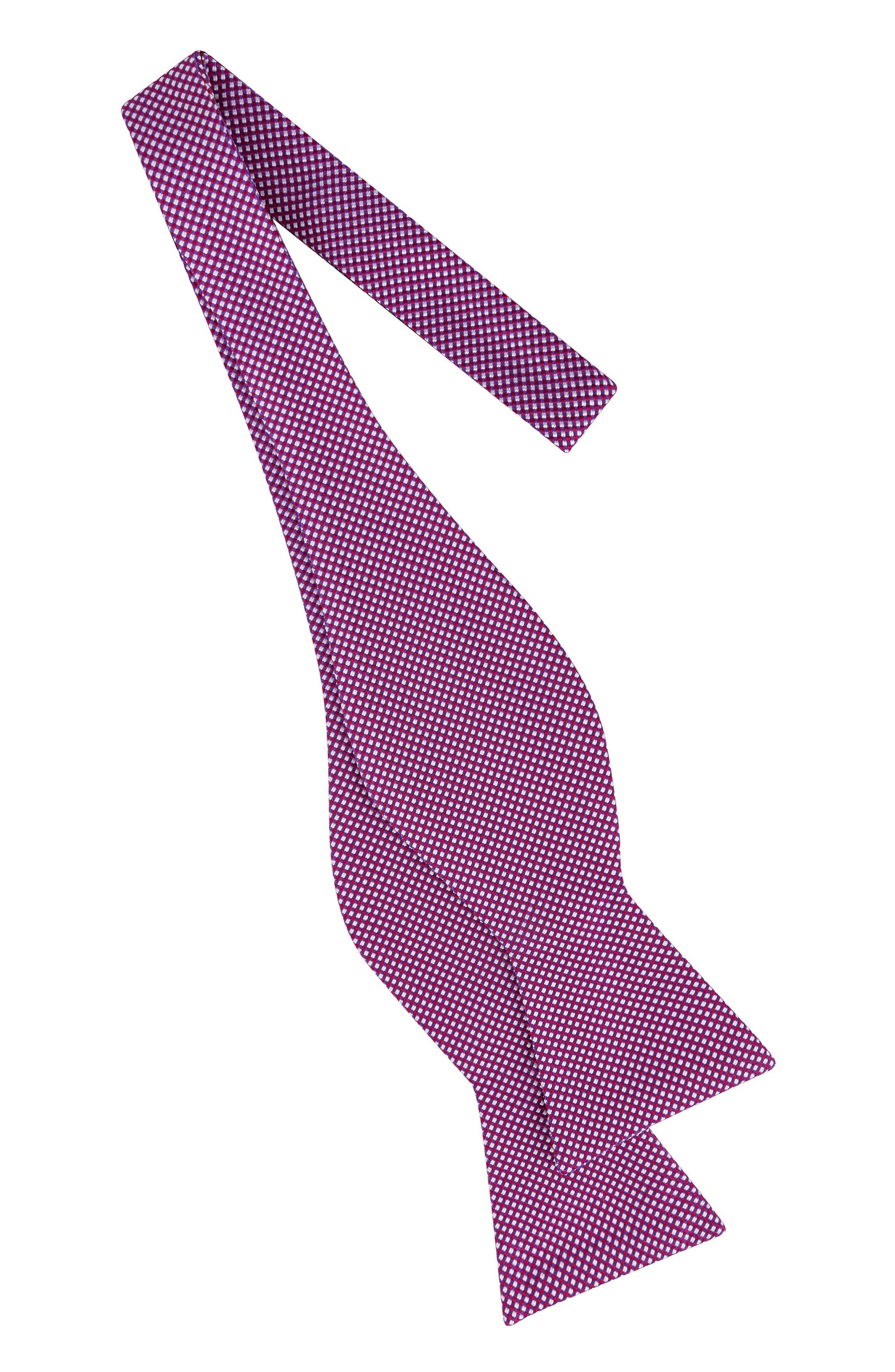 Natte Check Bow Tie,                             Alternate thumbnail 7, color,