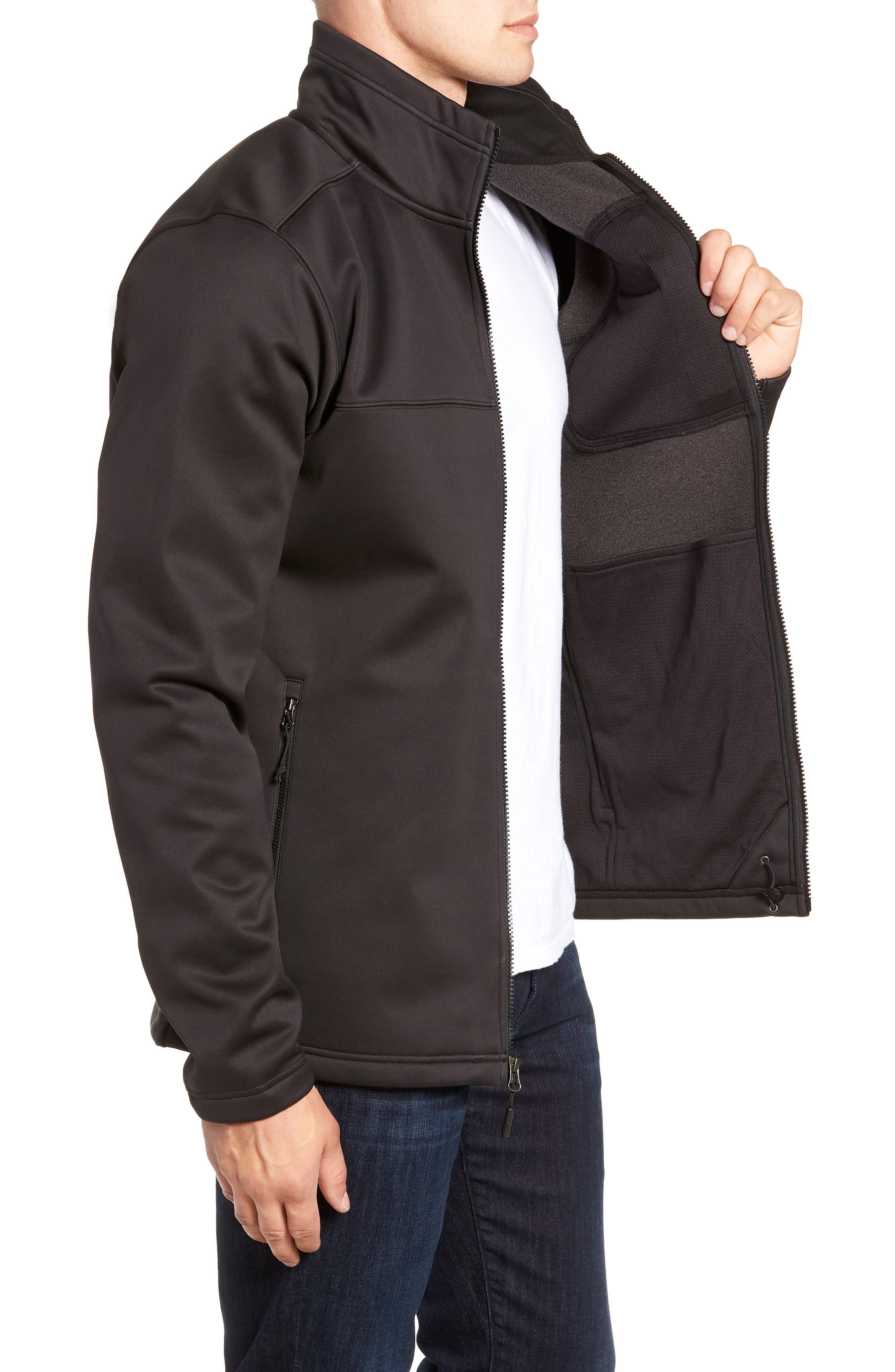 Apex Risor Jacket,                             Alternate thumbnail 3, color,                             TNF BLACK/ TNF BLACK