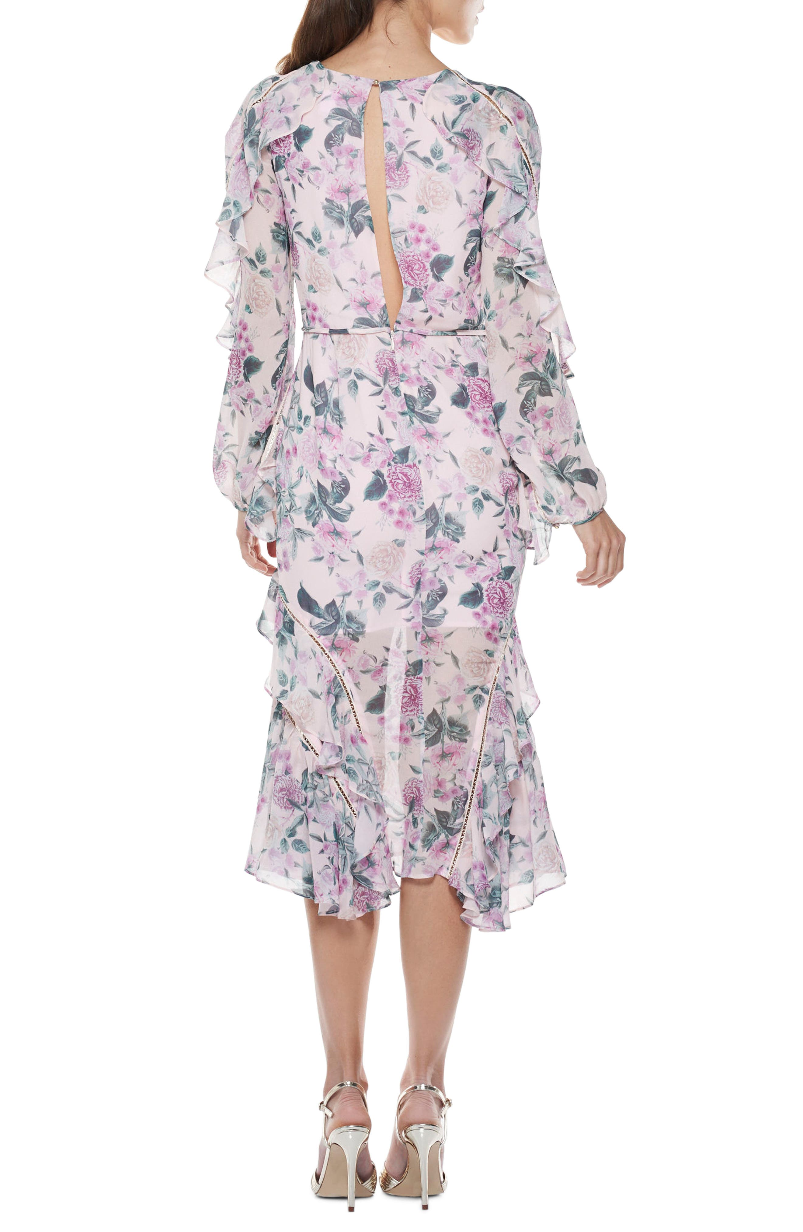 Floral Pleasure Midi Dress,                             Alternate thumbnail 2, color,                             680