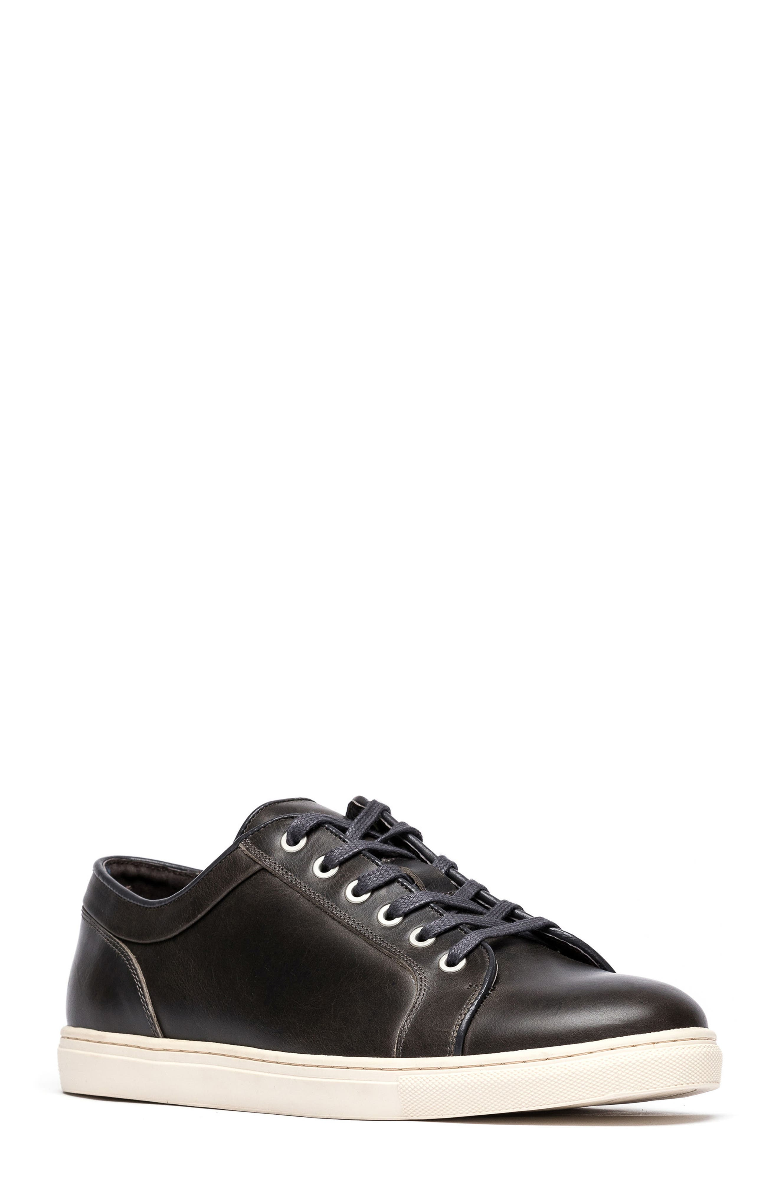 Aria Sneaker,                         Main,                         color, COAL LEATHER