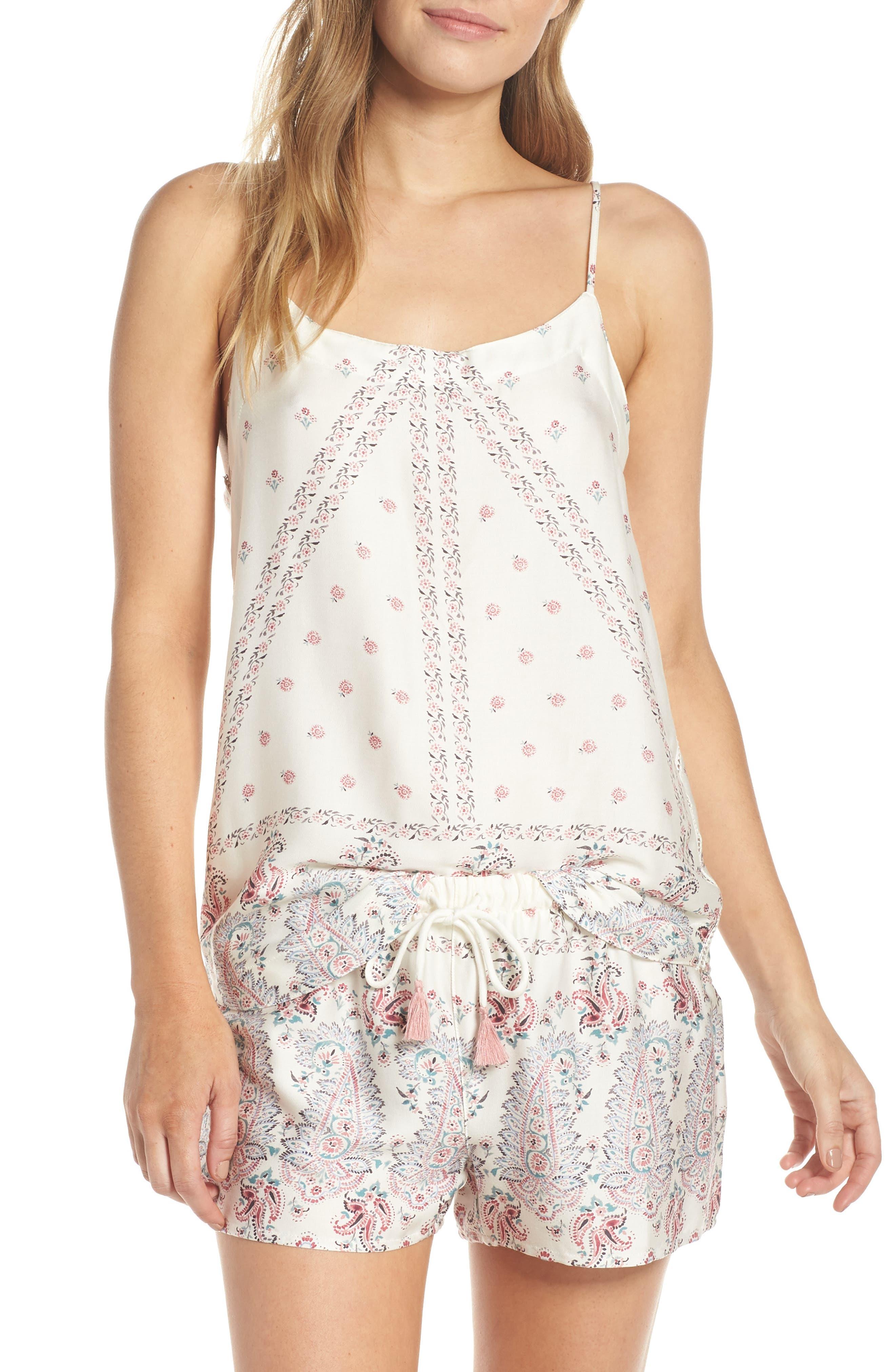 Paisley Park Pajama Camisole,                             Alternate thumbnail 7, color,                             ANTIQUE WHITE