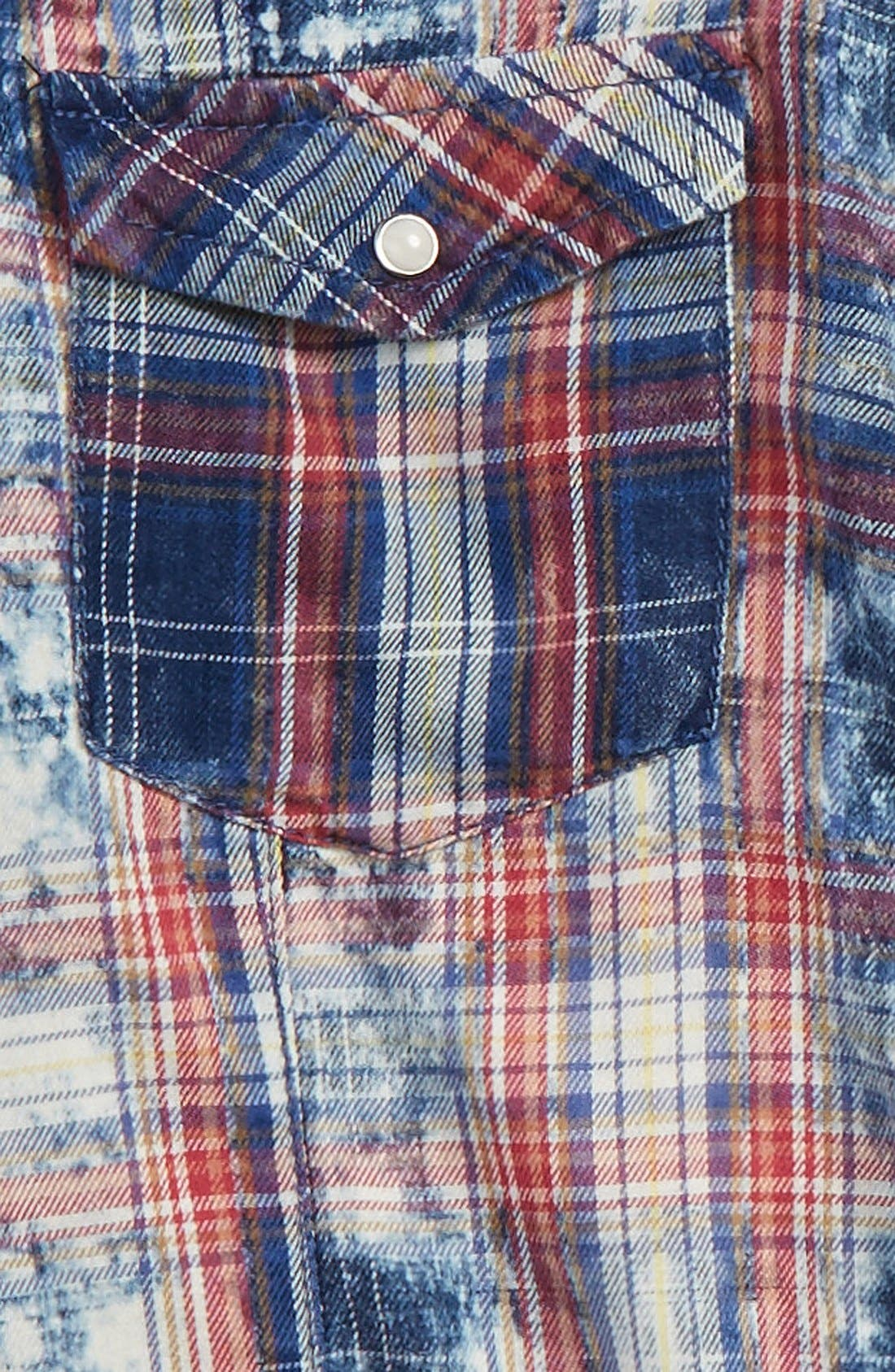 Tie Dye Plaid Shirt,                             Alternate thumbnail 2, color,                             985