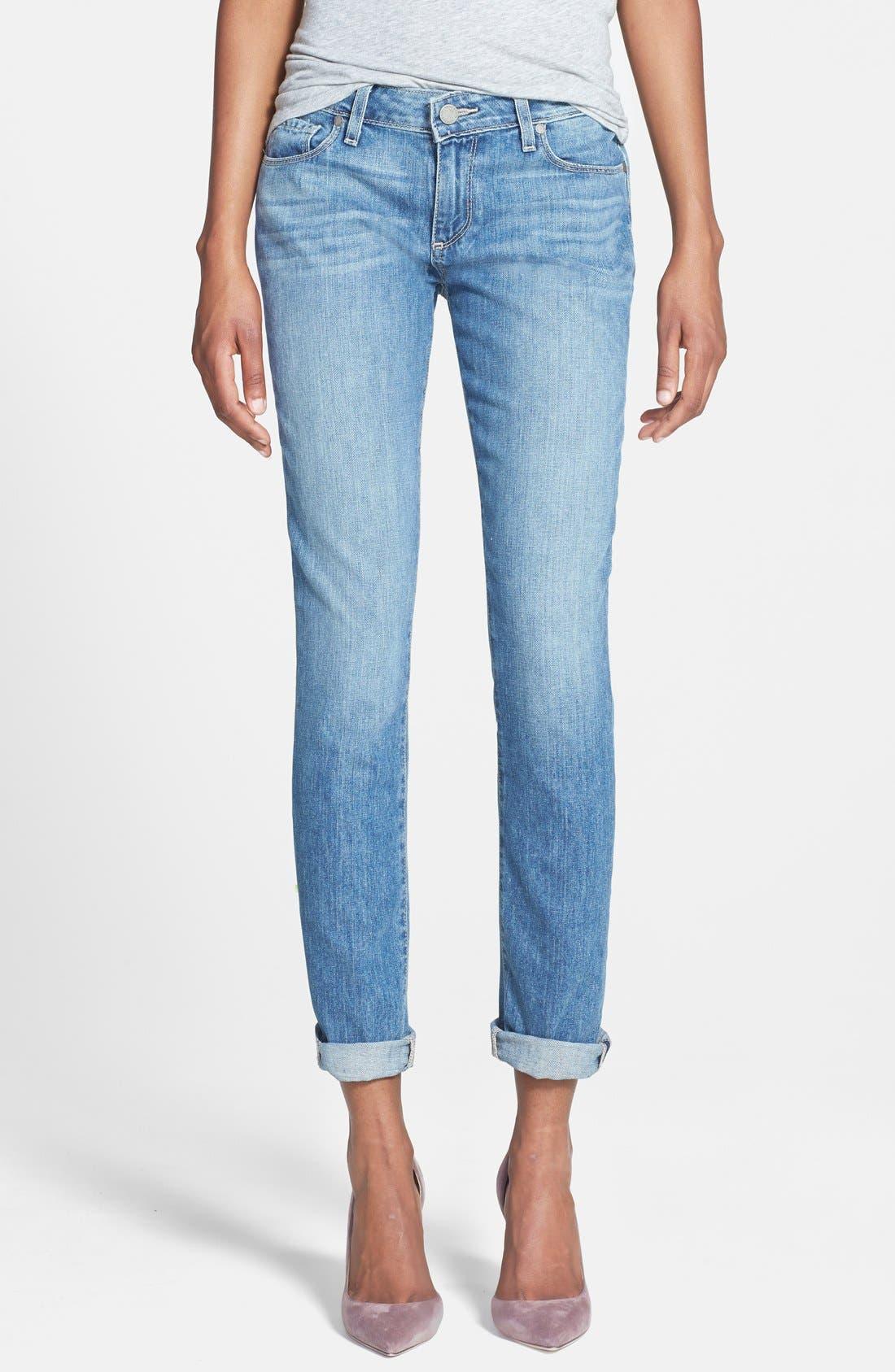Denim 'Jimmy Jimmy' Boyfriend Skinny Jeans,                             Main thumbnail 1, color,                             450