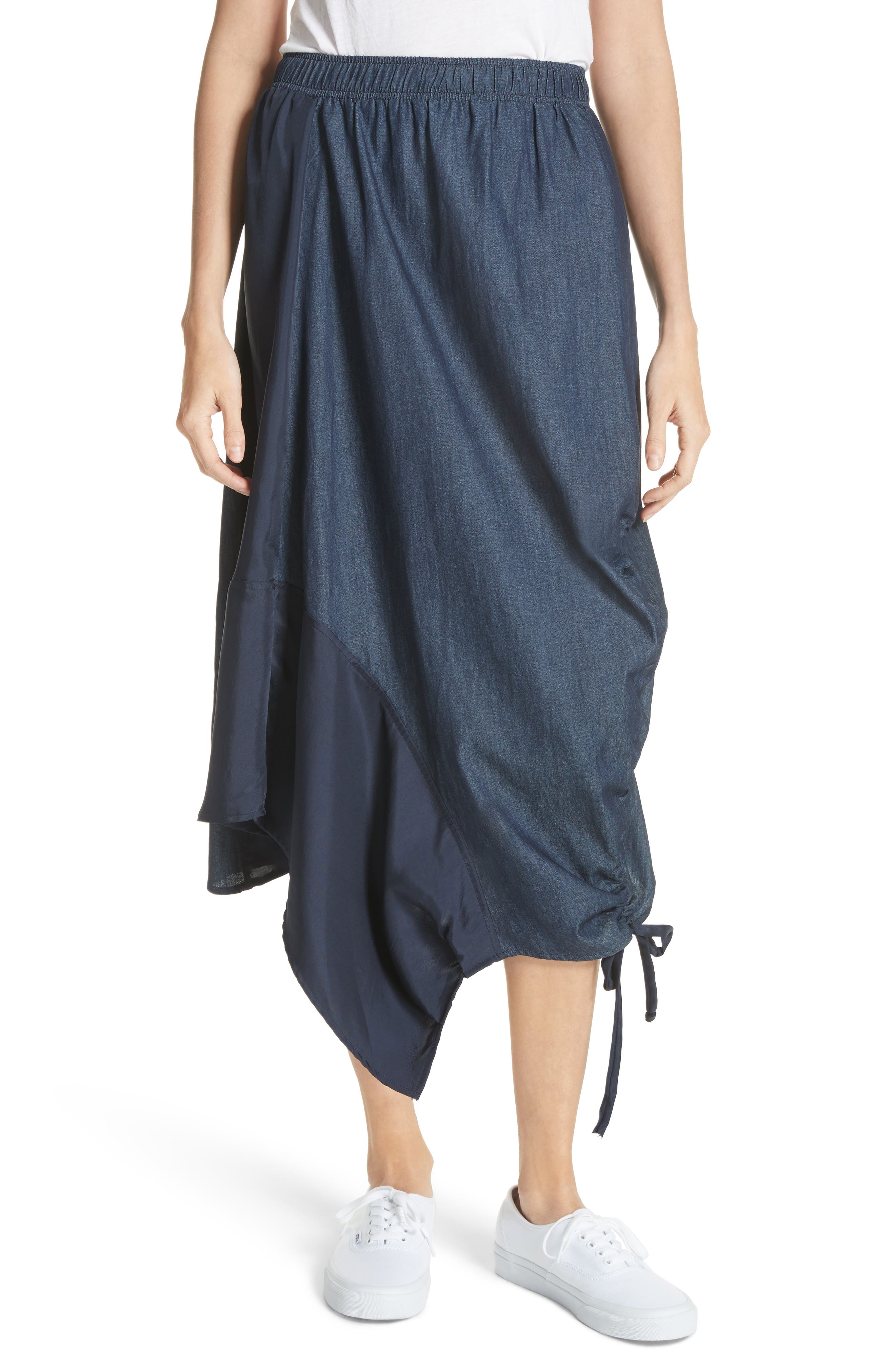 Asymmetrical Mixed Media Skirt,                         Main,                         color, 491