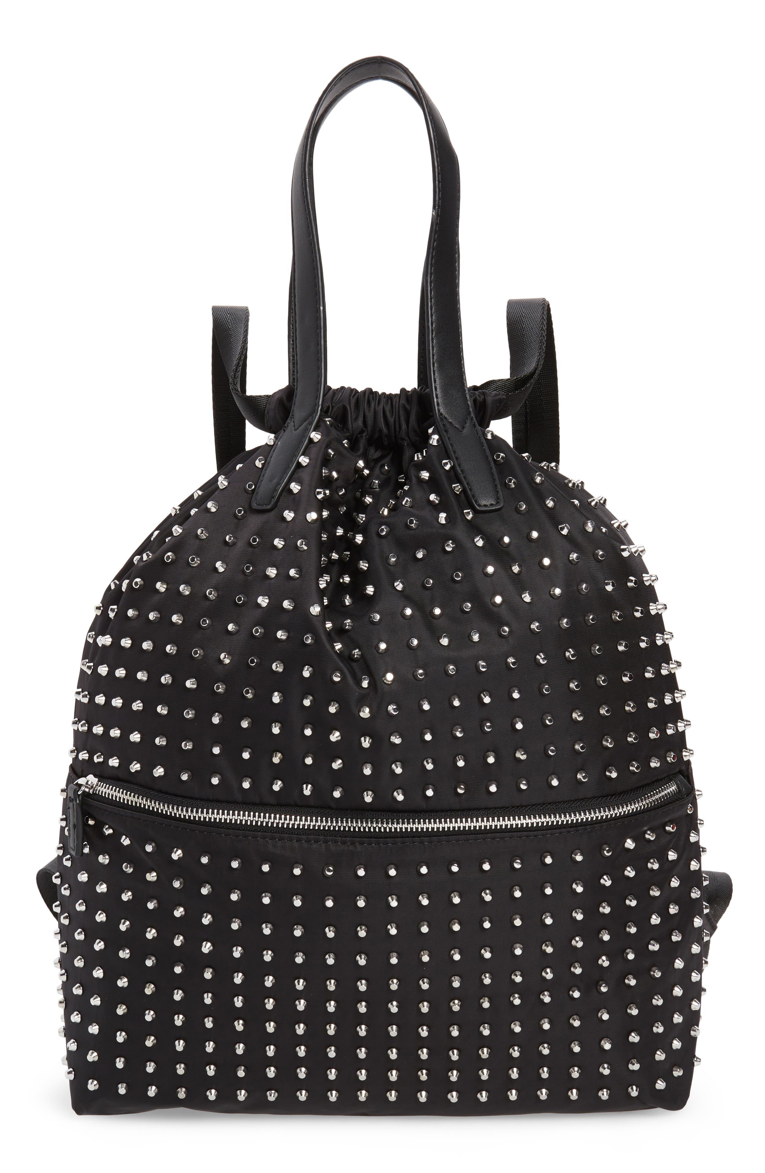 Topshop Tokyo Studded Backpack - Black
