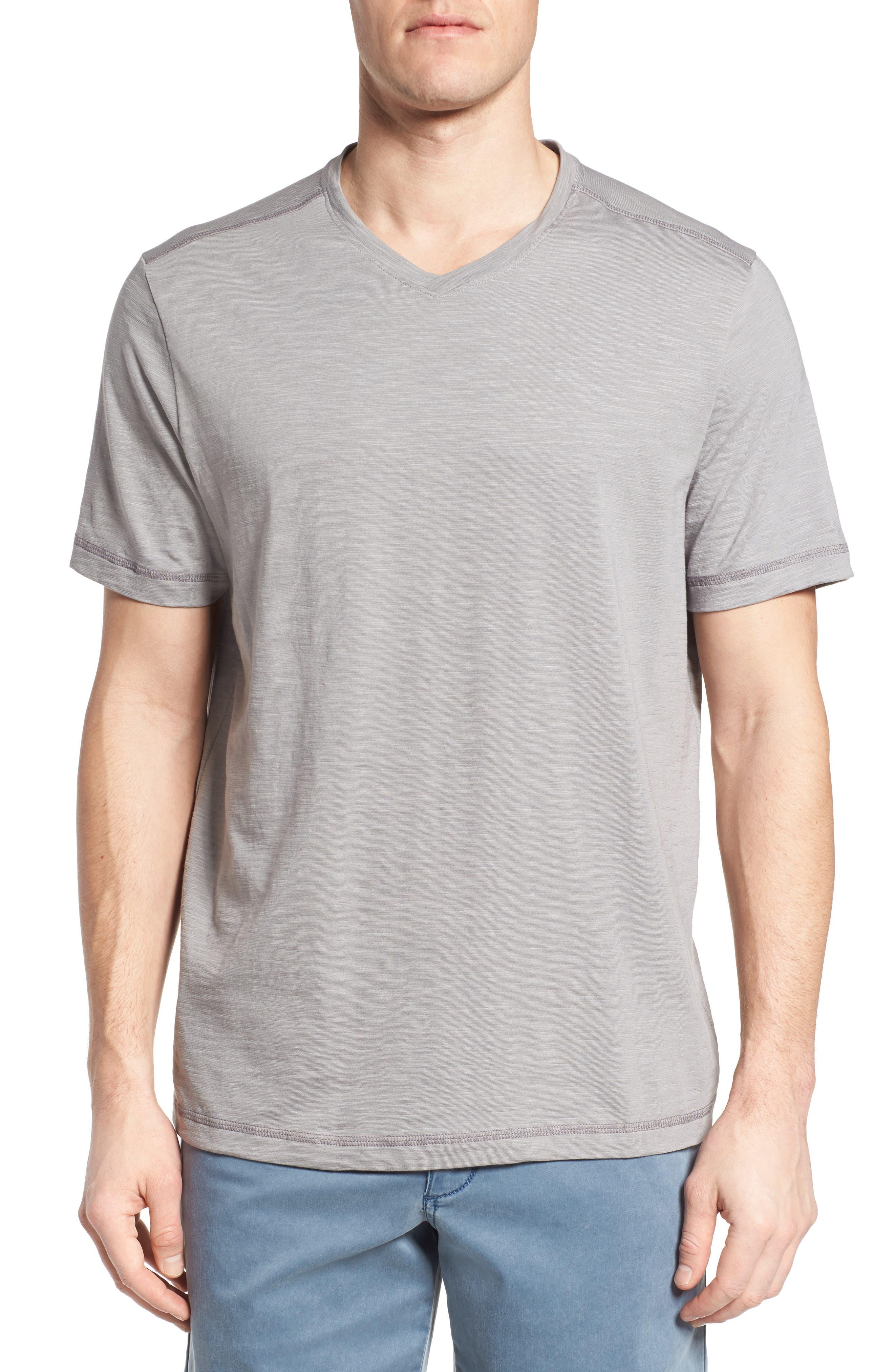 Portside Palms V-Neck T-Shirt,                             Main thumbnail 2, color,