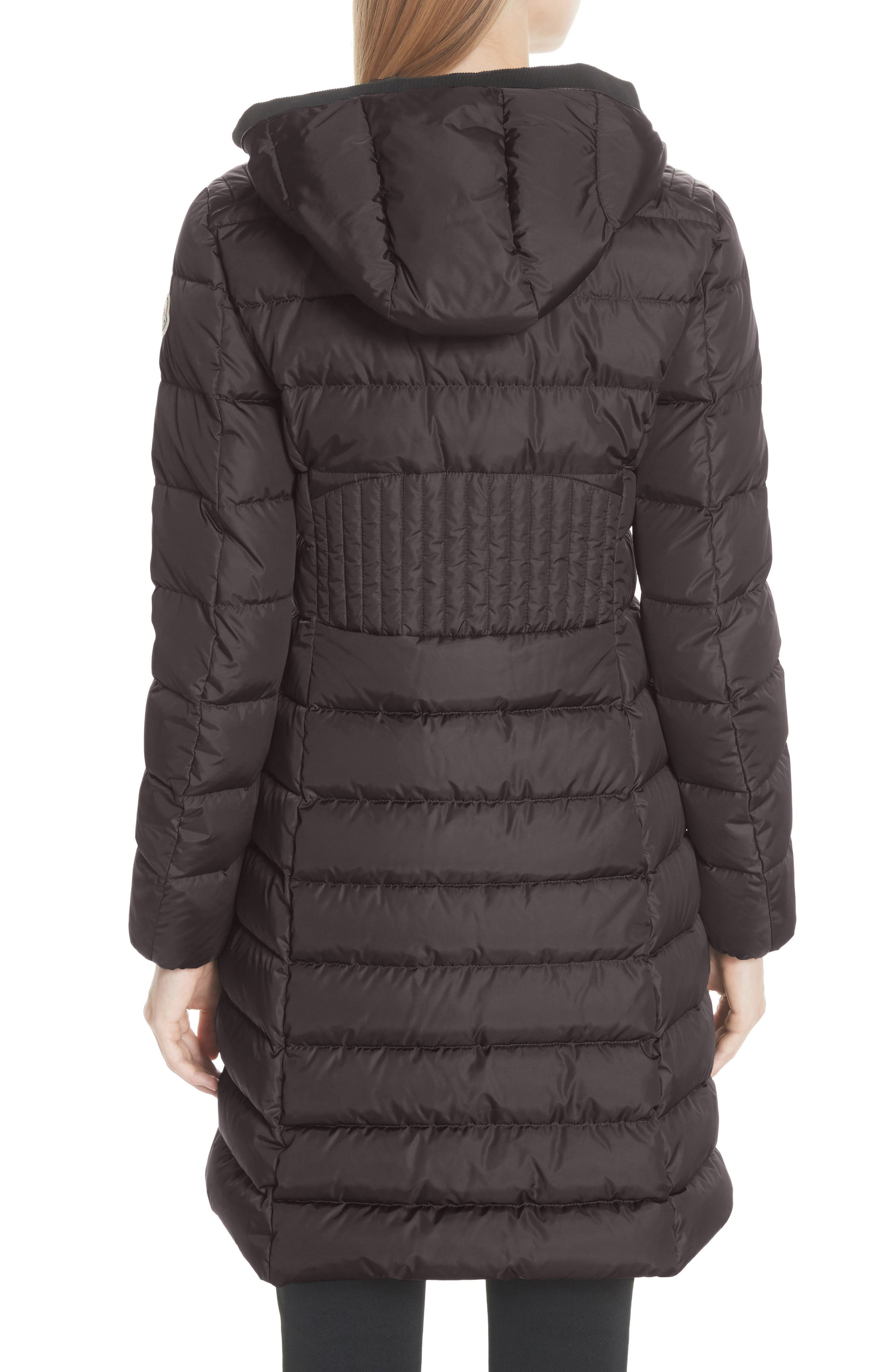 Taleve Hooded Quilted Down Coat,                             Alternate thumbnail 2, color,                             GREY