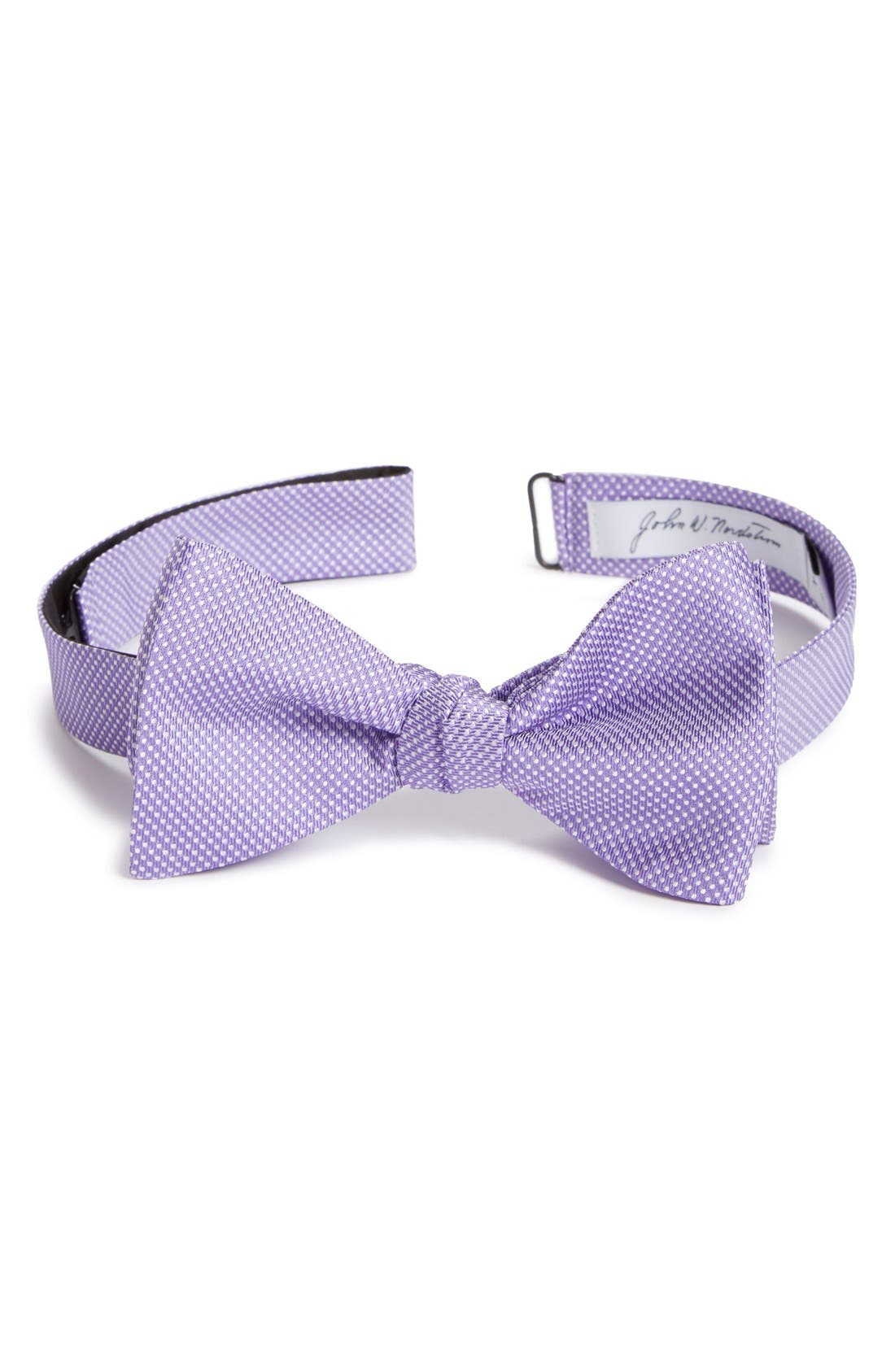 Dot Silk Bow Tie,                             Main thumbnail 7, color,