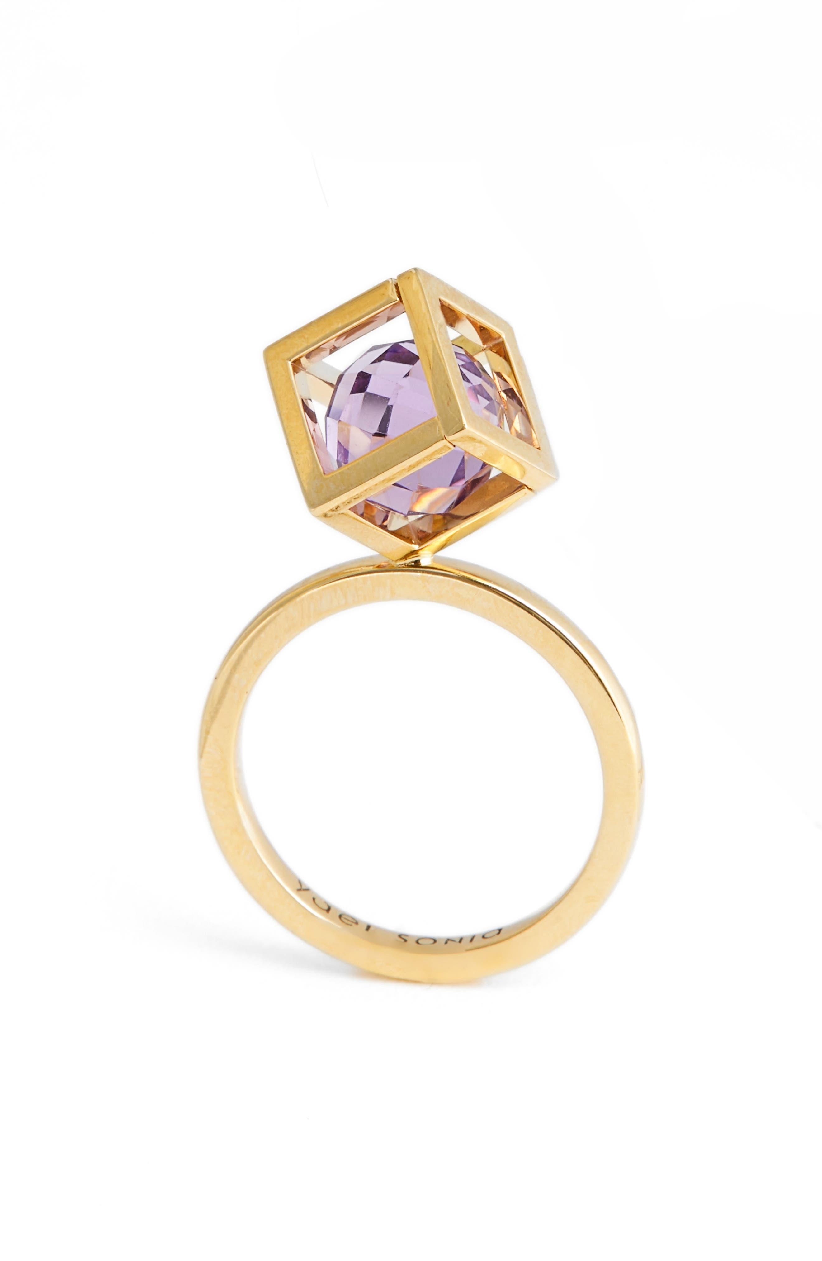 Rotated Solo Amethyst Ring,                             Main thumbnail 1, color,                             500