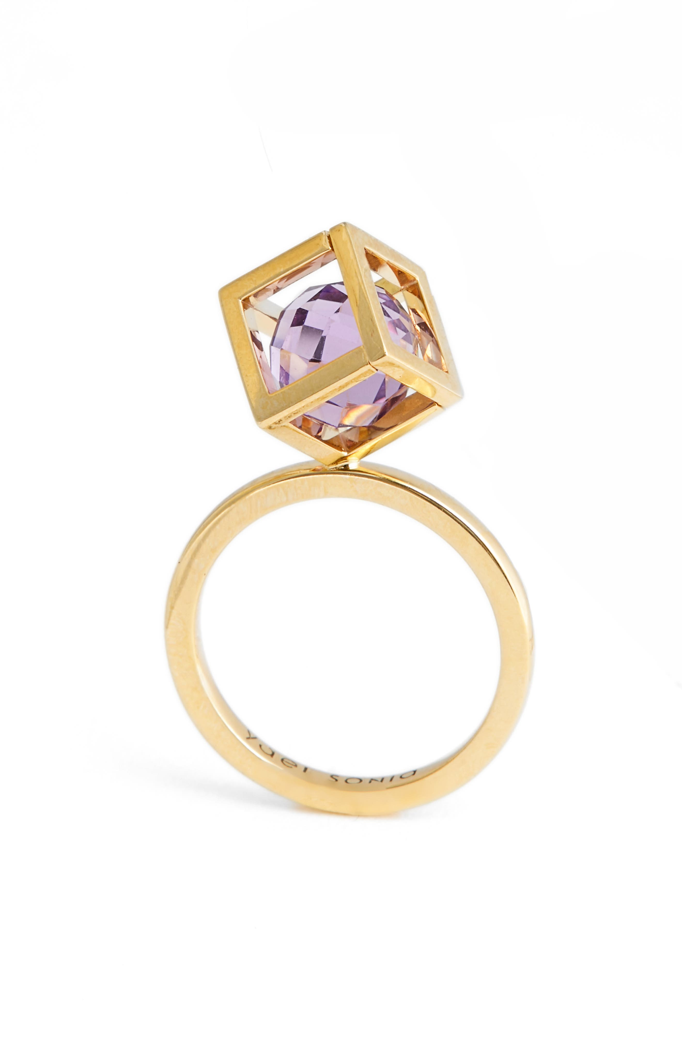 Rotated Solo Amethyst Ring,                         Main,                         color, 500