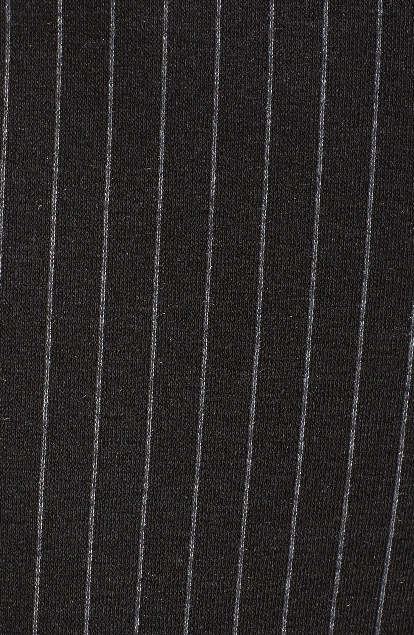 Pinstripe Ankle Pants,                             Alternate thumbnail 5, color,                             001