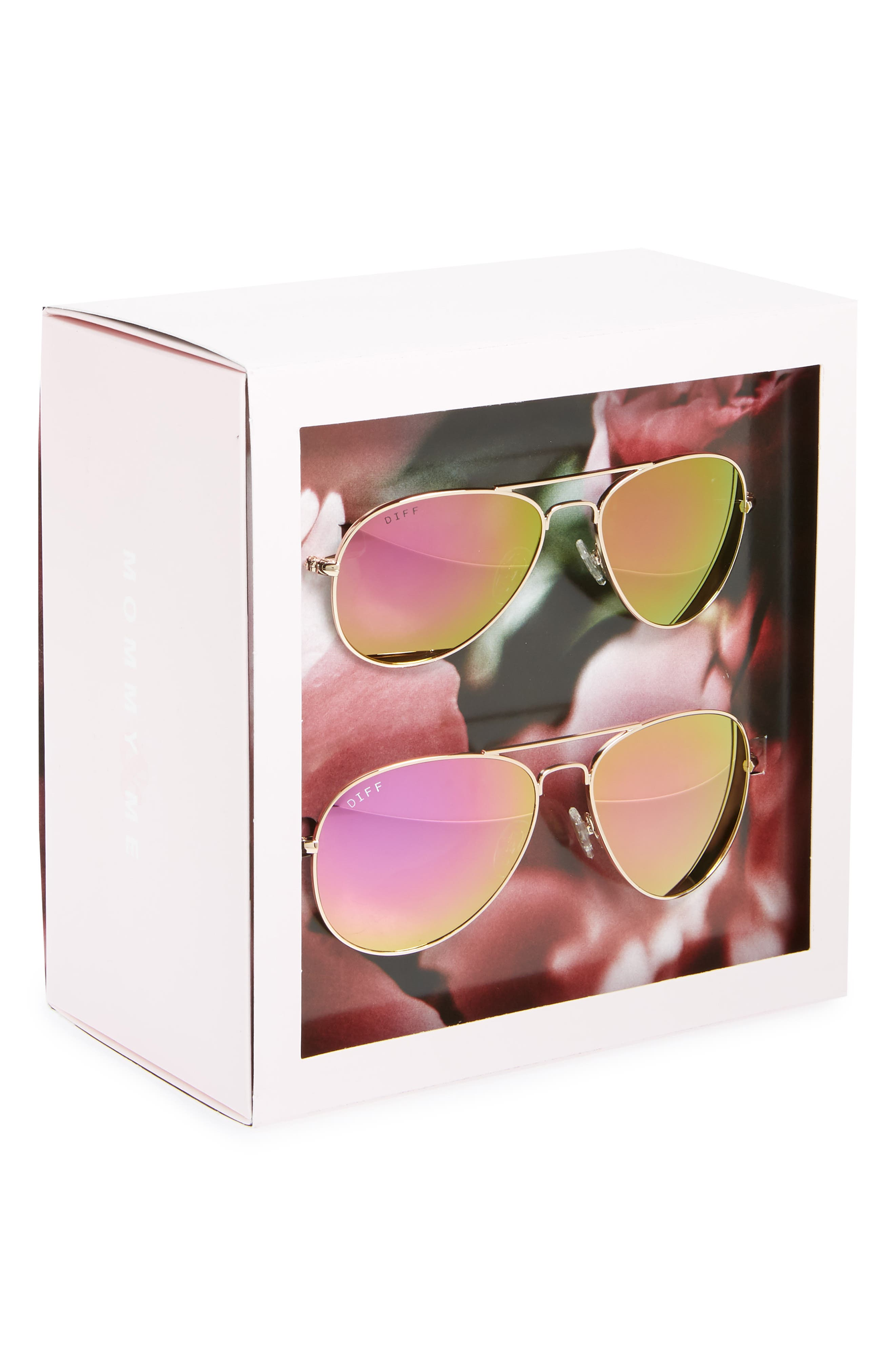 Mommy & Me Cruz 2-Pack Aviator Sunglasses,                             Alternate thumbnail 4, color,                             710