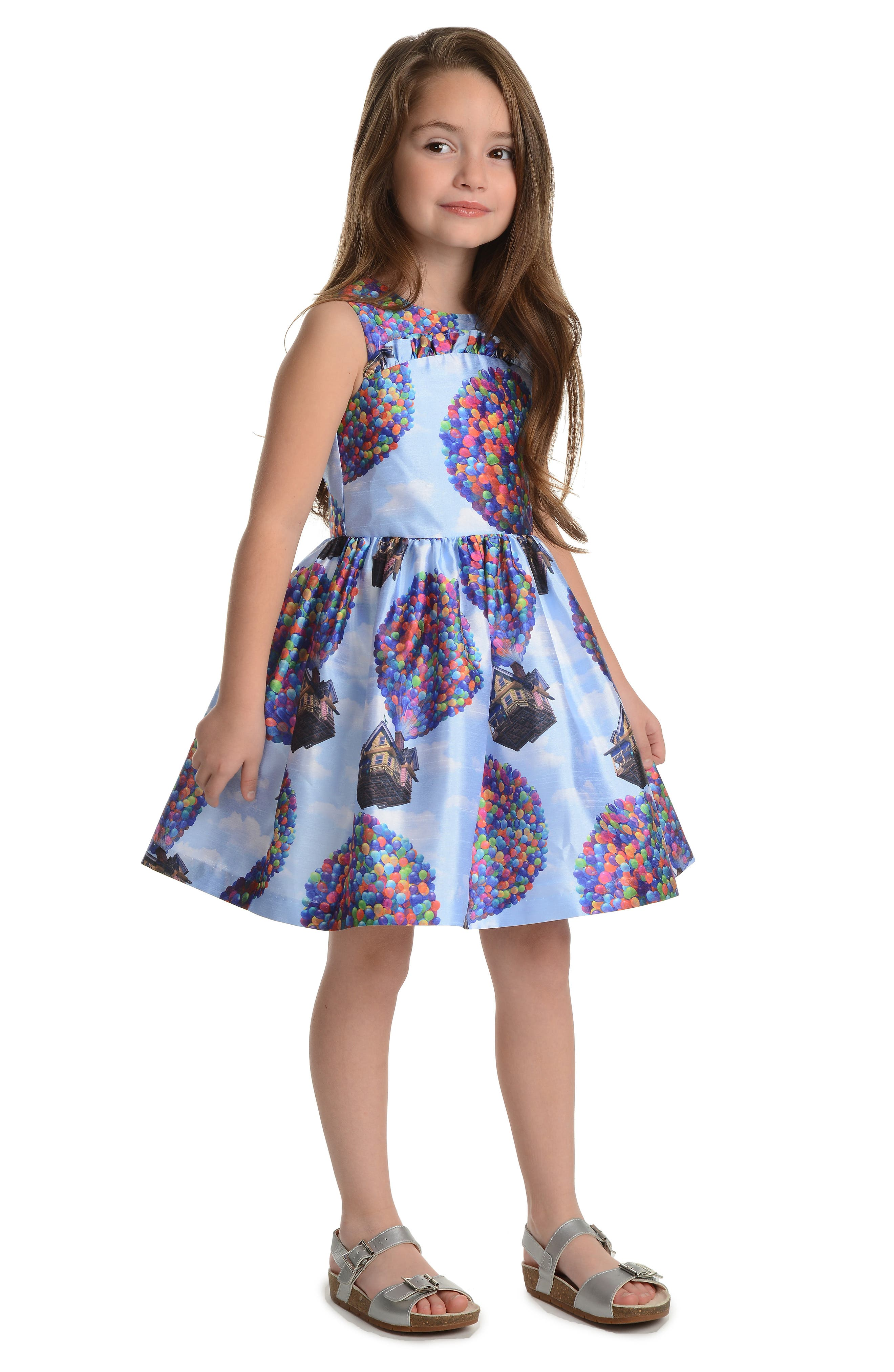 PIPPA & JULIE,                             x Disney<sup>®</sup> Up House Fit & Flare Dress,                             Alternate thumbnail 2, color,                             BLUE