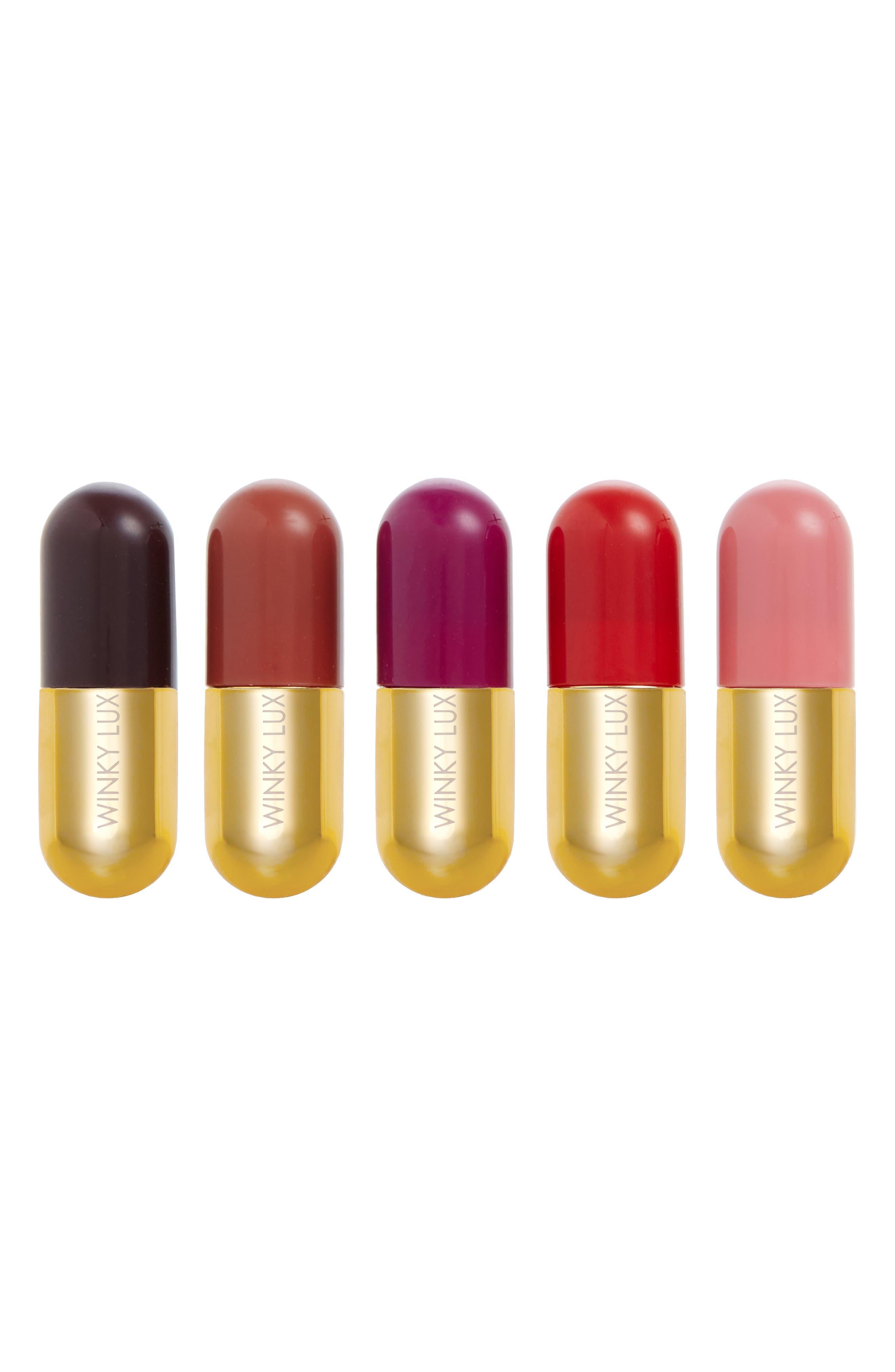 Mini Lip Pill Kit,                             Main thumbnail 1, color,                             NO COLOR