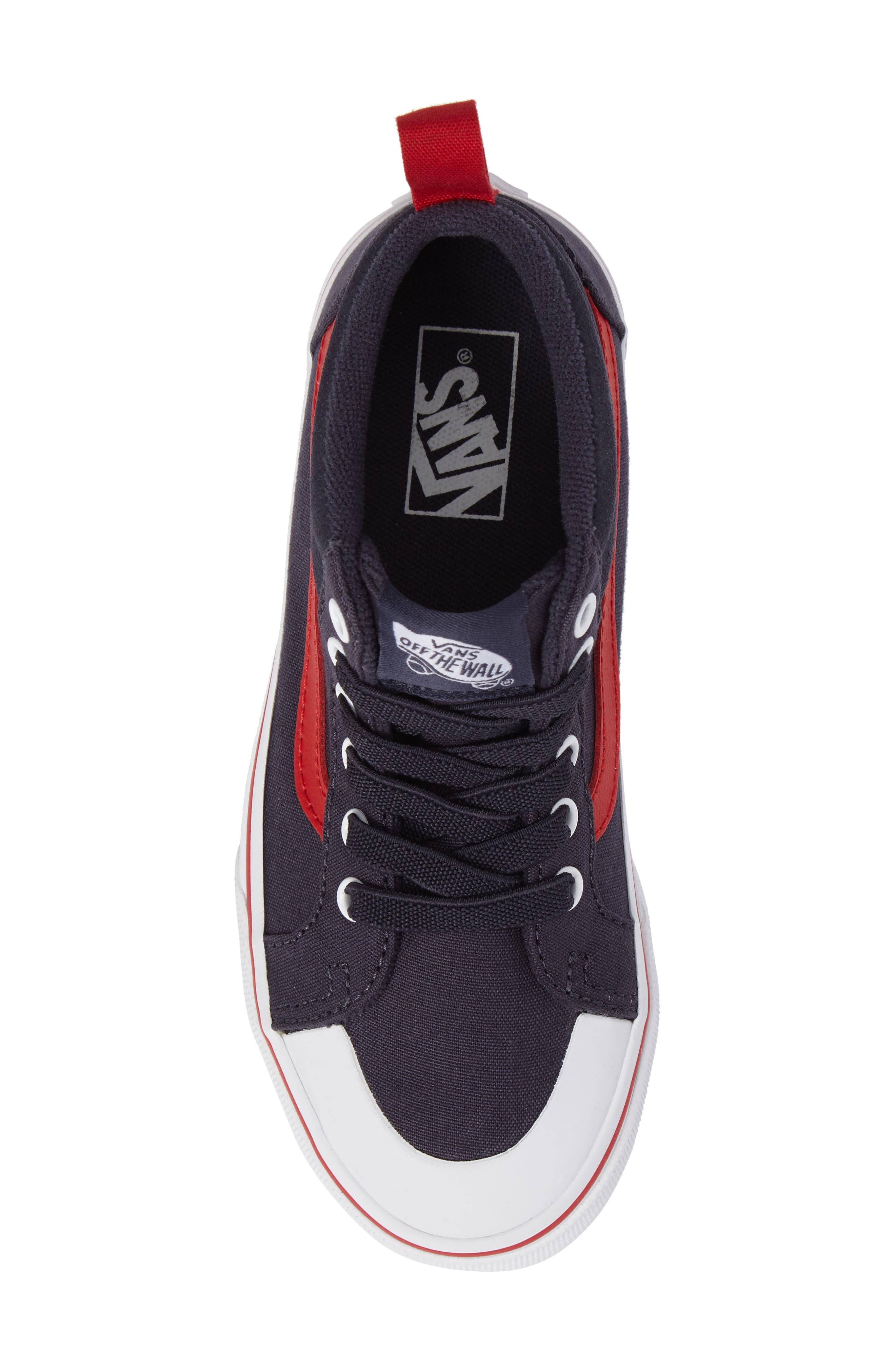 Racer Mid Elastic Lace Sneaker,                             Alternate thumbnail 35, color,
