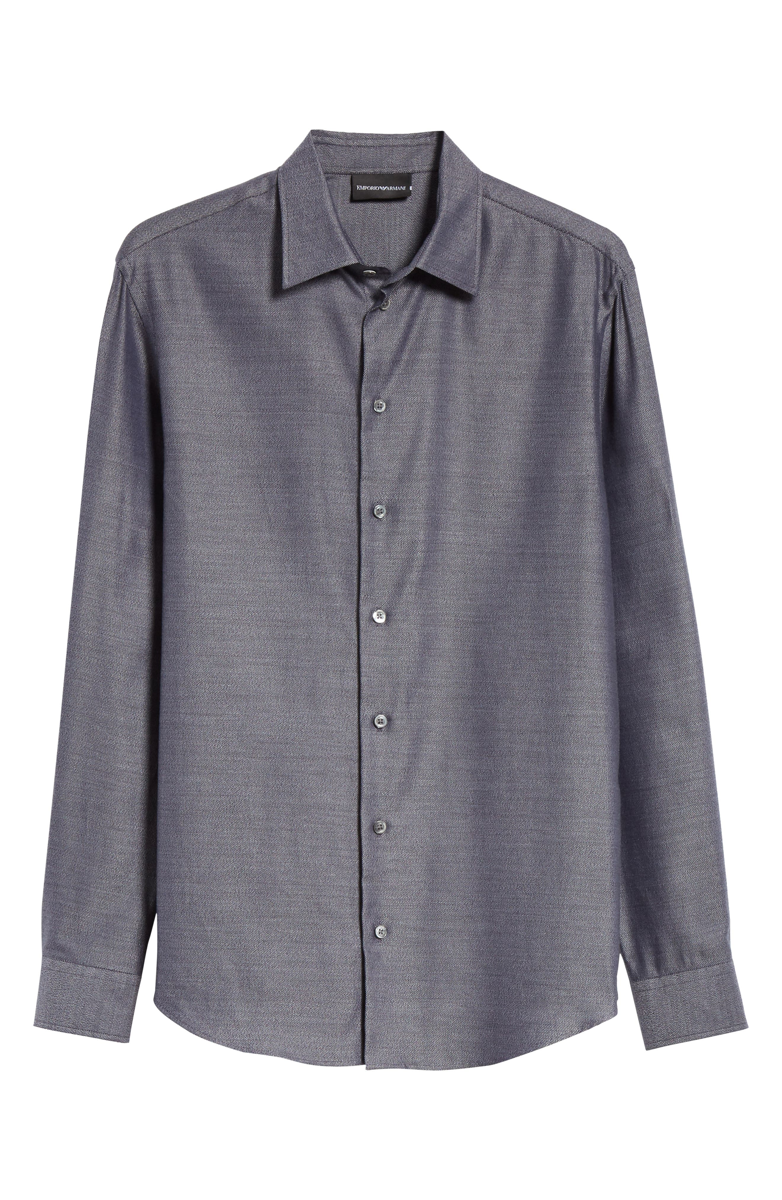 Regular Fit Twill Sport Shirt,                             Alternate thumbnail 6, color,                             GREY MULTI