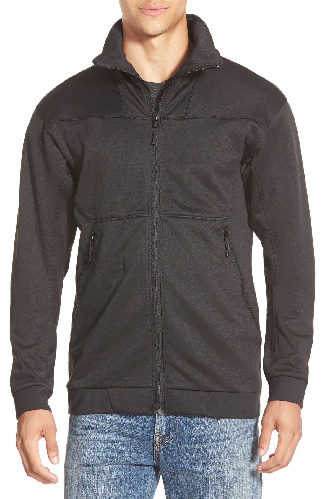 'Straibo' Midweight Technical Fleece Jacket,                             Main thumbnail 1, color,                             001