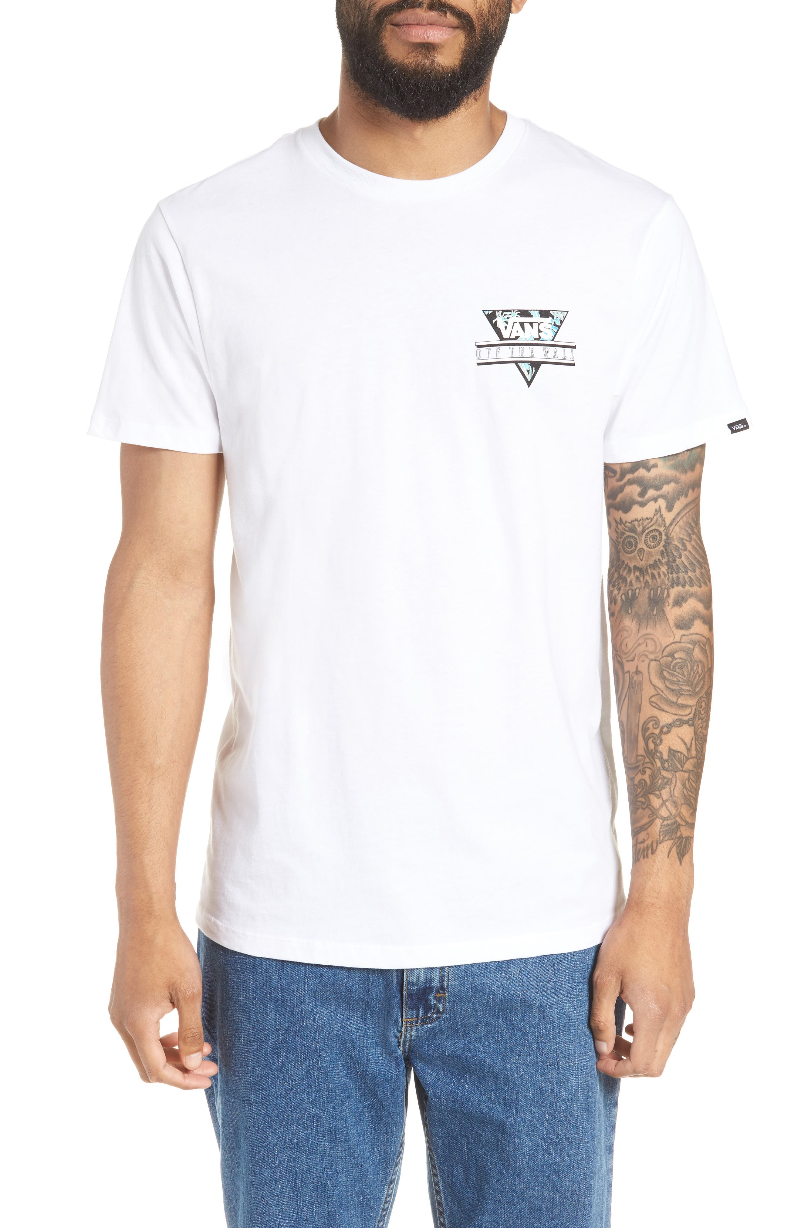 Retro Triangle Graphic T-Shirt,                         Main,                         color,