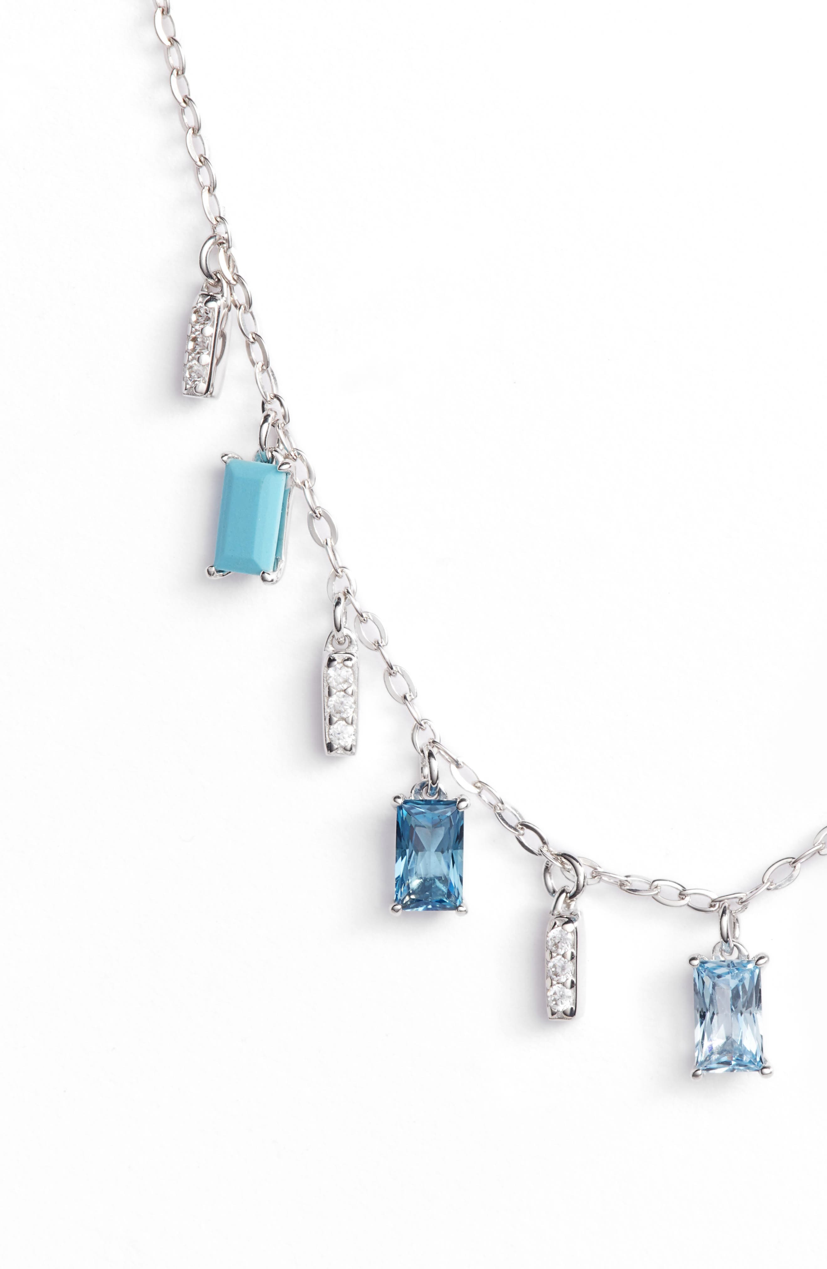 Crystal Drop Frontal Necklace,                             Alternate thumbnail 3, color,