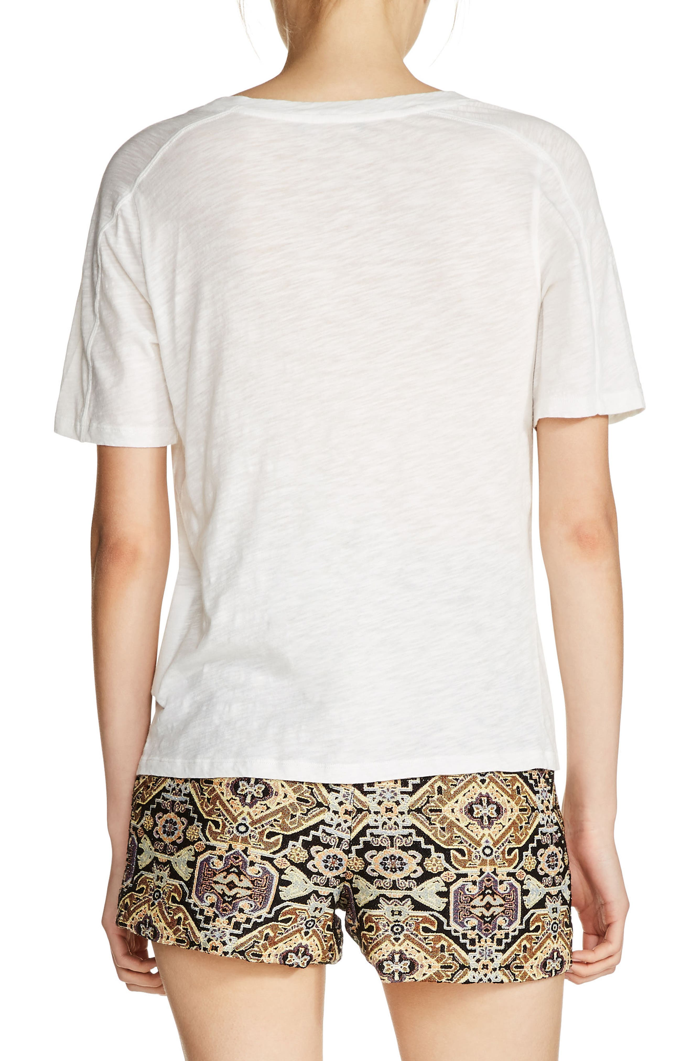 Floral Embroidered Tee,                             Alternate thumbnail 2, color,                             900