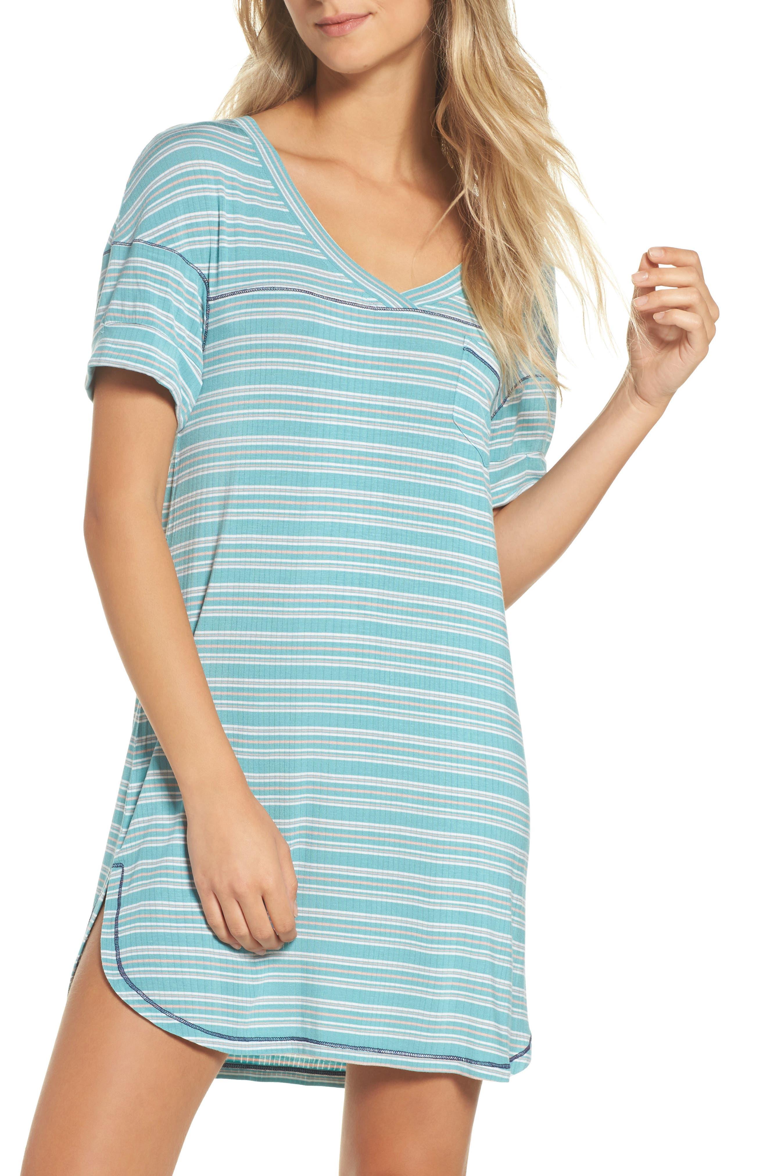 Rib Sleep Shirt,                             Main thumbnail 1, color,                             300