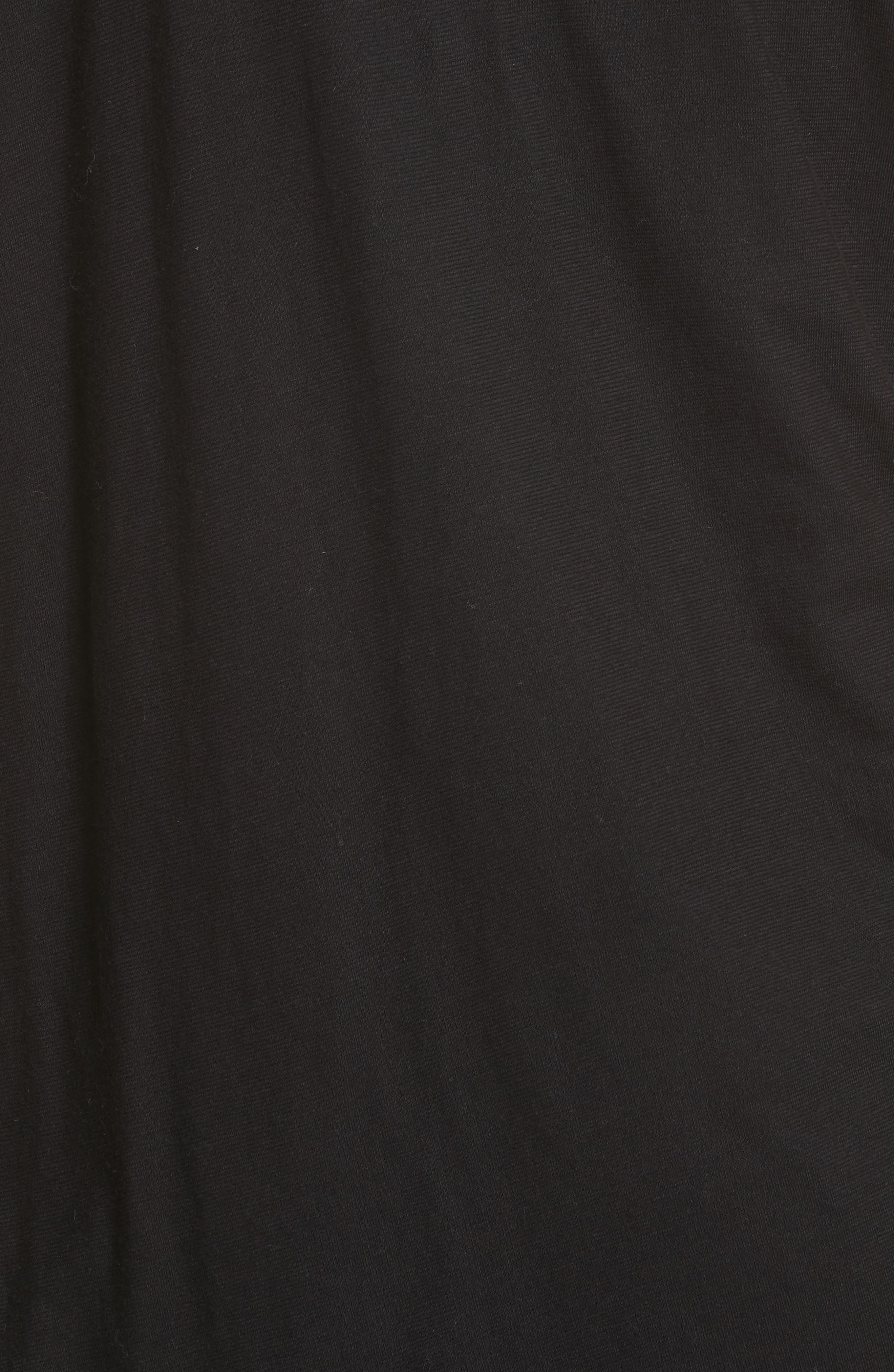 Side Tie Cotton Dress,                             Alternate thumbnail 5, color,                             001