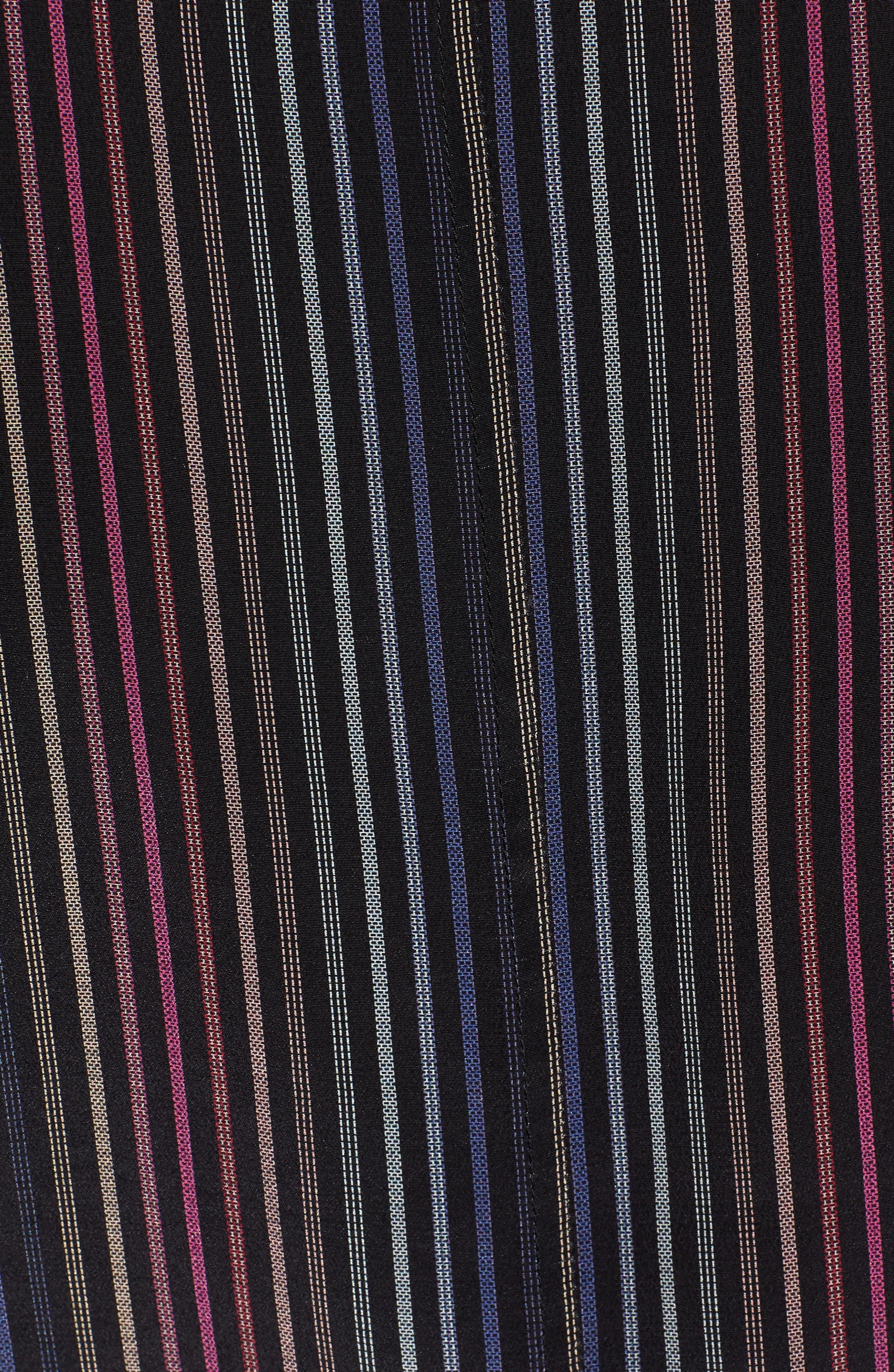 Thea Tie Waist Blouse,                             Alternate thumbnail 6, color,                             RAINBOW STRIPE