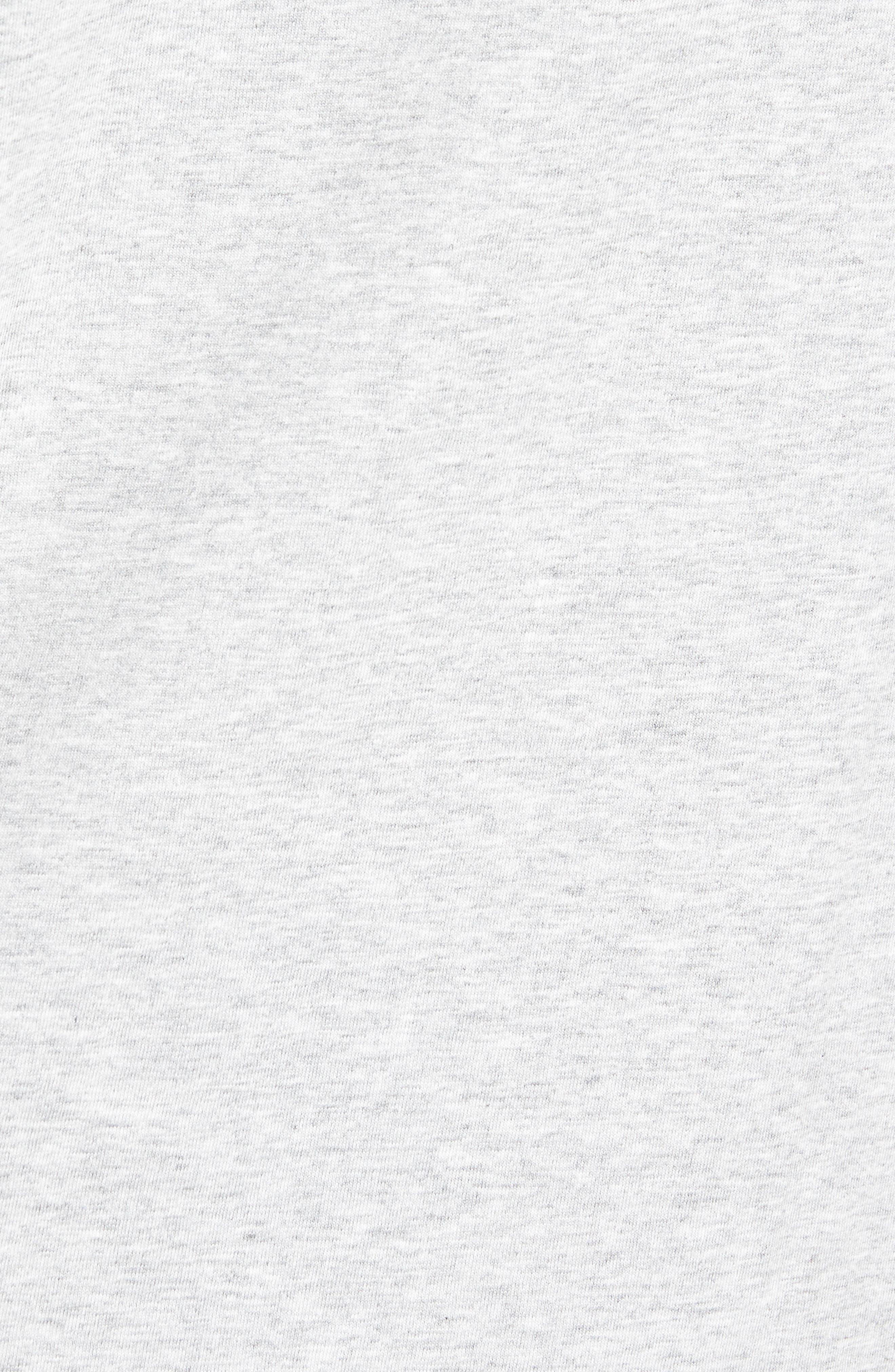 Football Whale Long Sleeve Pocket T-Shirt,                             Alternate thumbnail 5, color,                             GRAY HEATHER