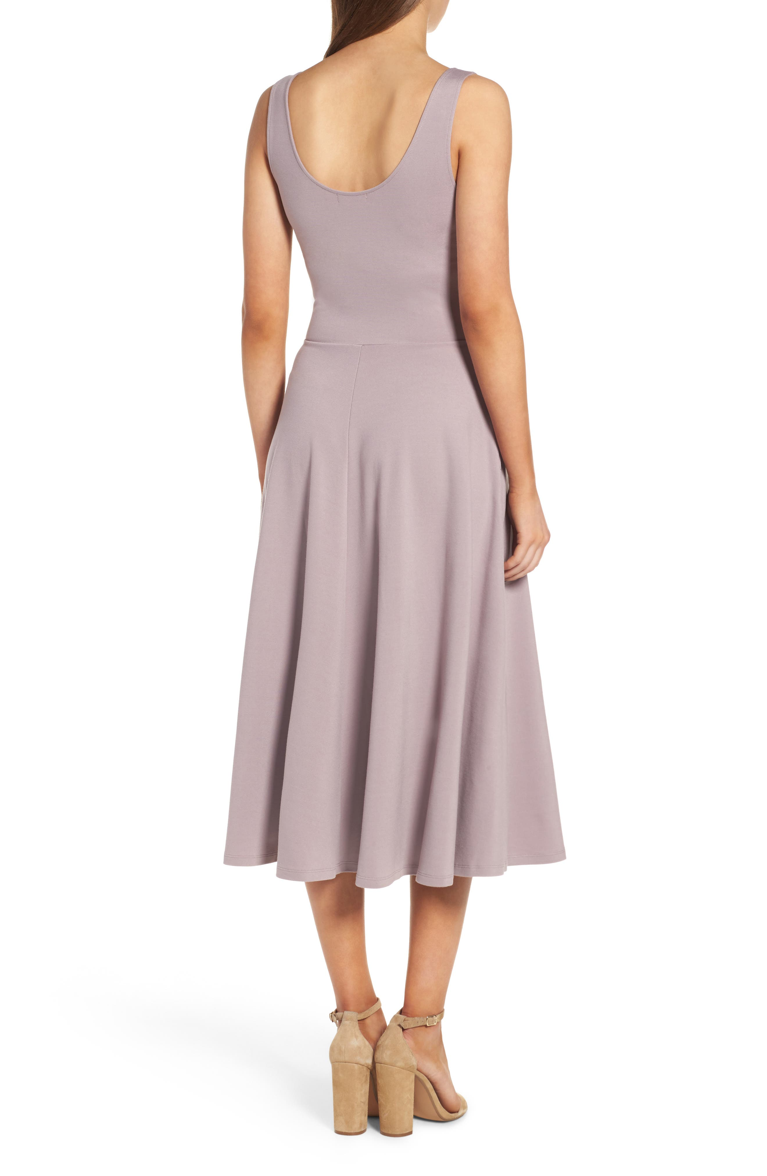 Stretch Knit Midi Dress,                             Alternate thumbnail 18, color,