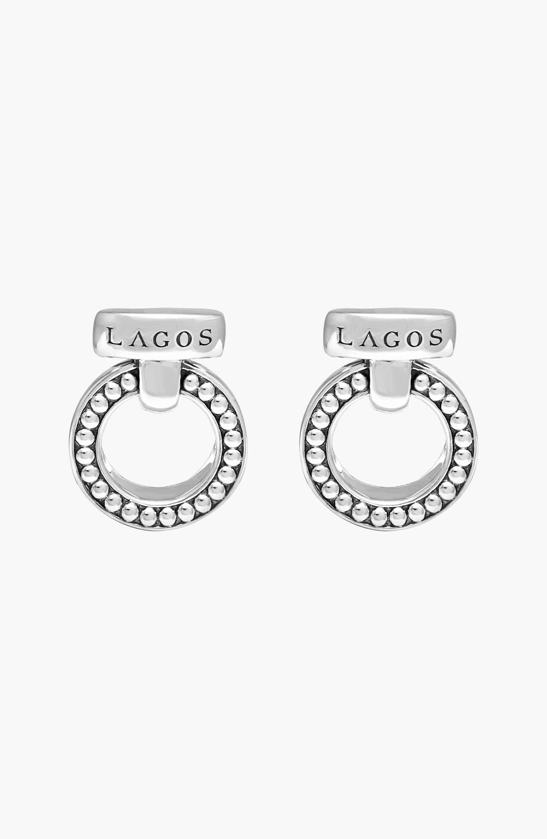 'Enso' Caviar<sup>™</sup> Clip Earrings,                             Alternate thumbnail 5, color,                             040