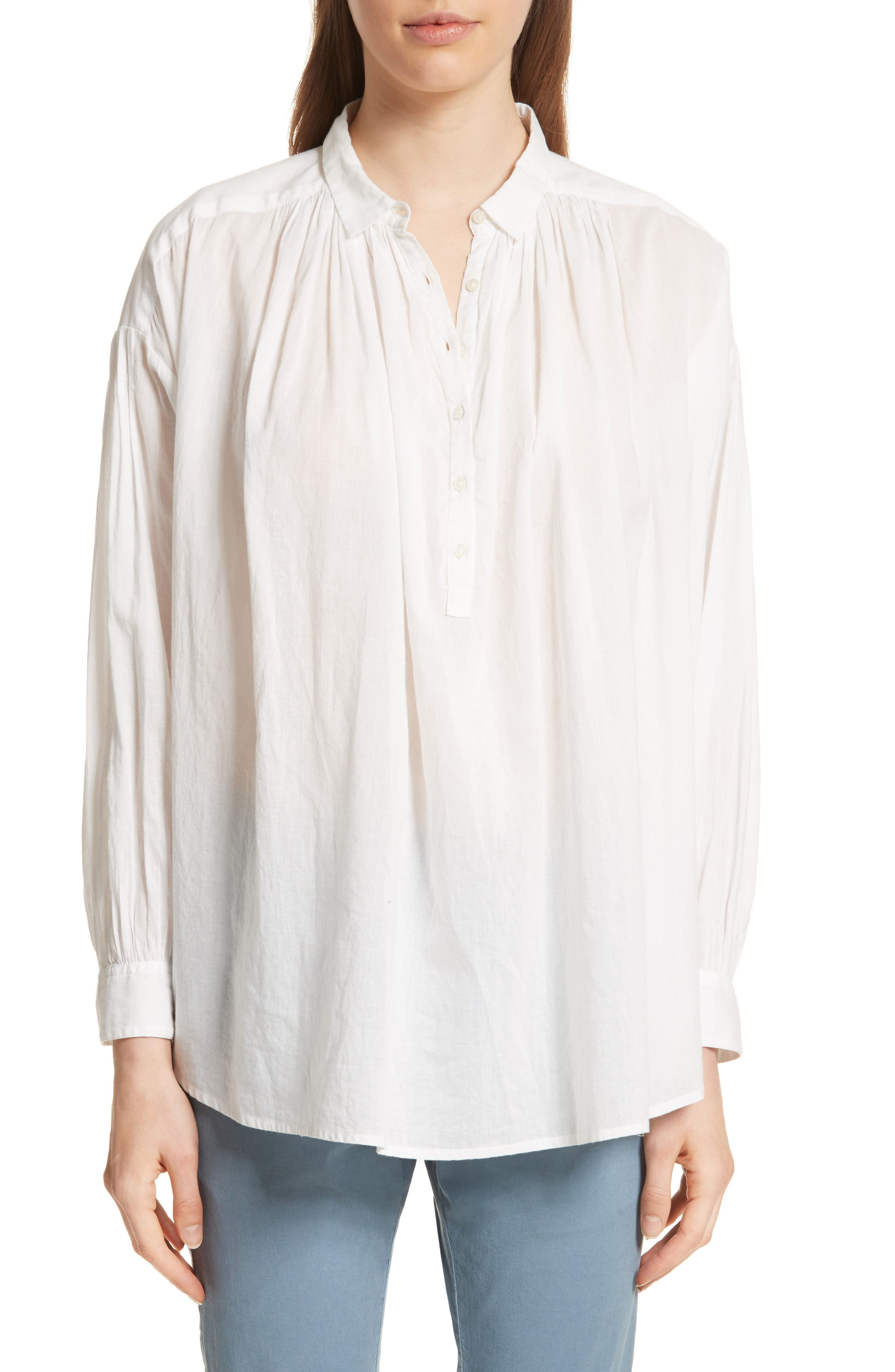 Miles Gathered Yoke Blouse,                             Main thumbnail 1, color,                             902