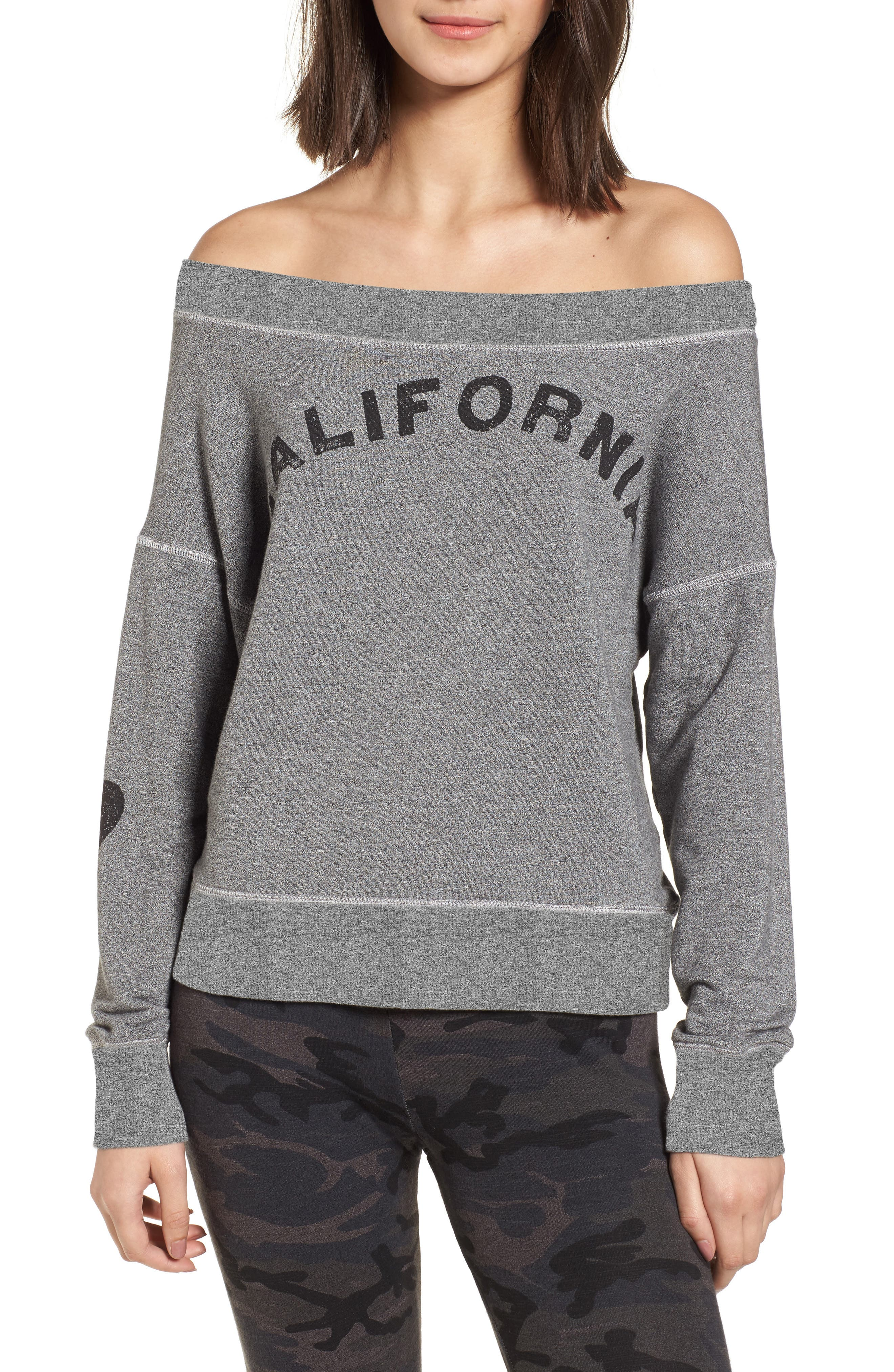 California Off the Shoulder Pullover,                             Main thumbnail 1, color,