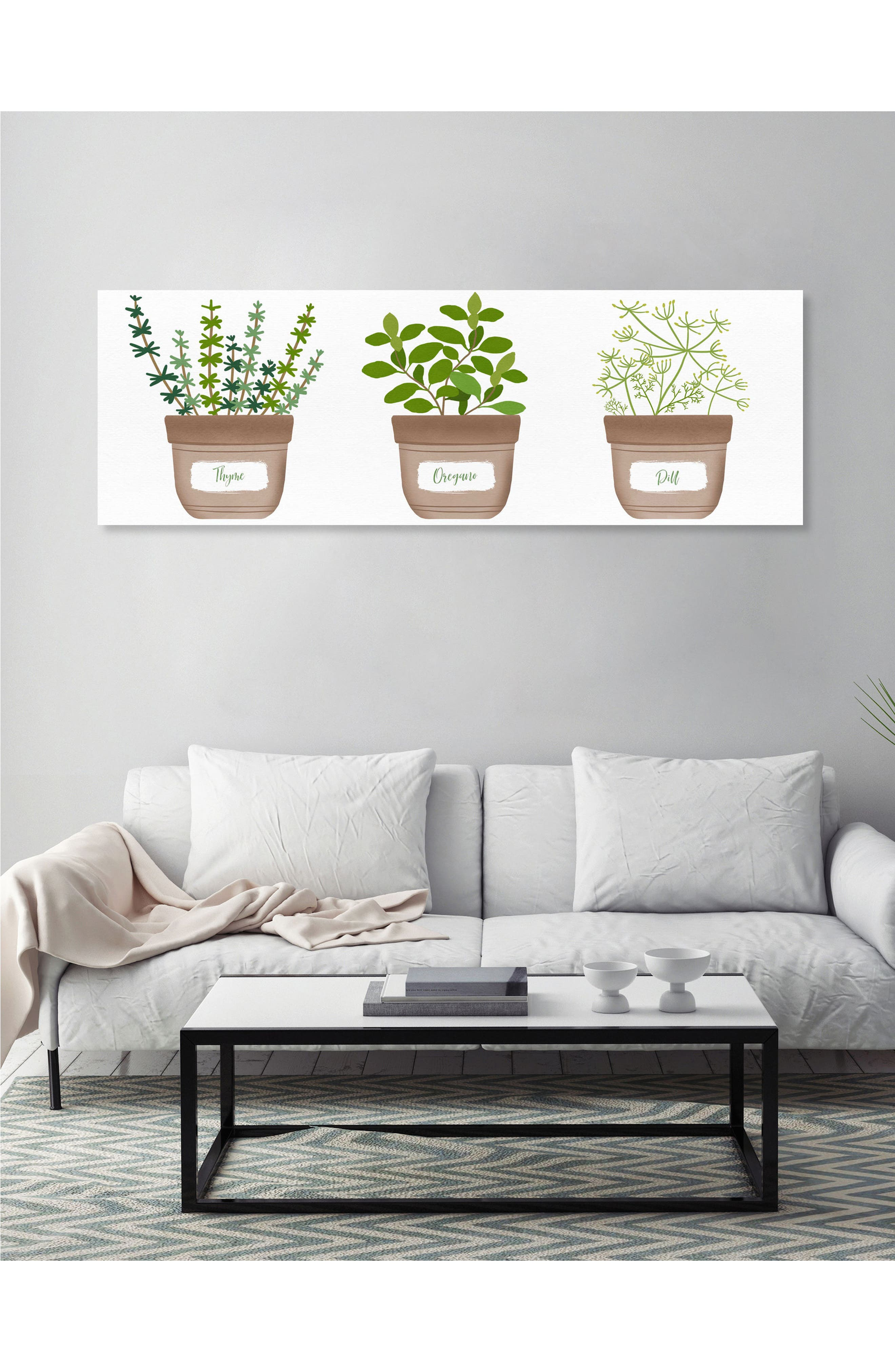 Herbs II Canvas Wall Art,                             Alternate thumbnail 2, color,                             GREEN