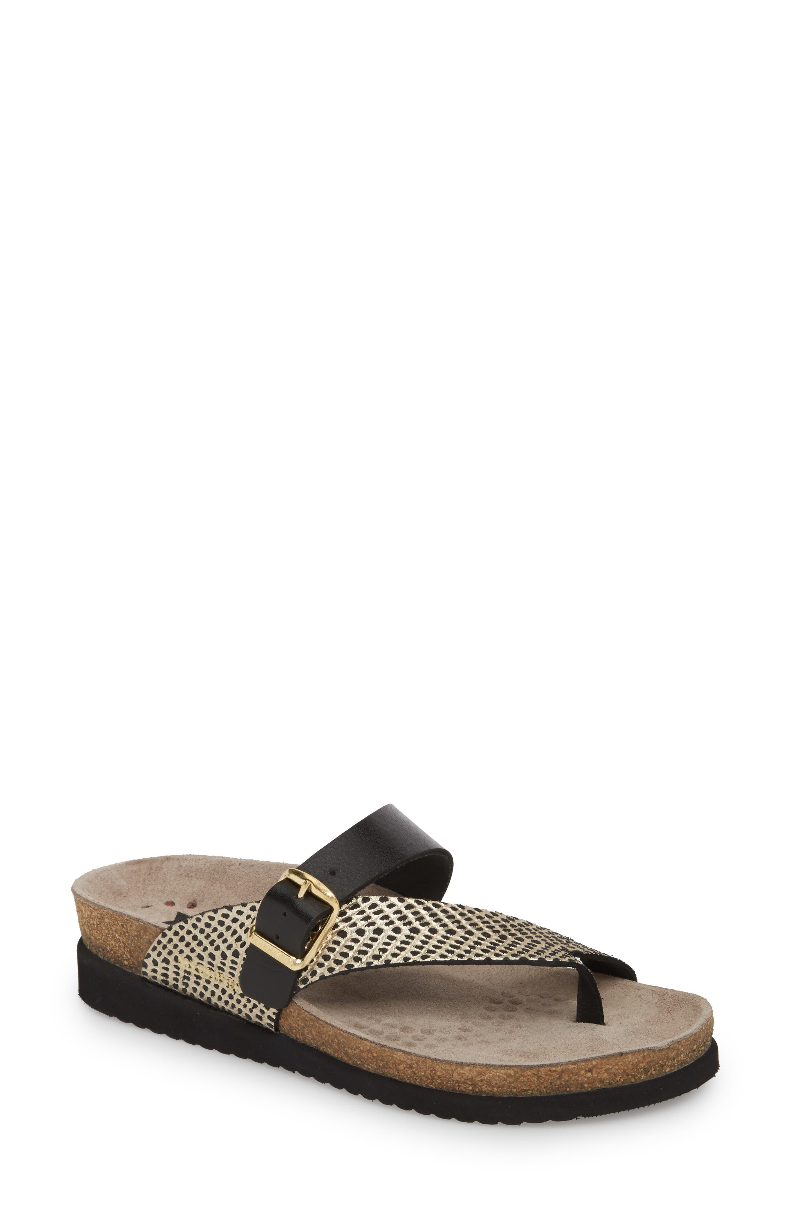 Helen Mix Sandal,                         Main,                         color, BLACK/ GOLD