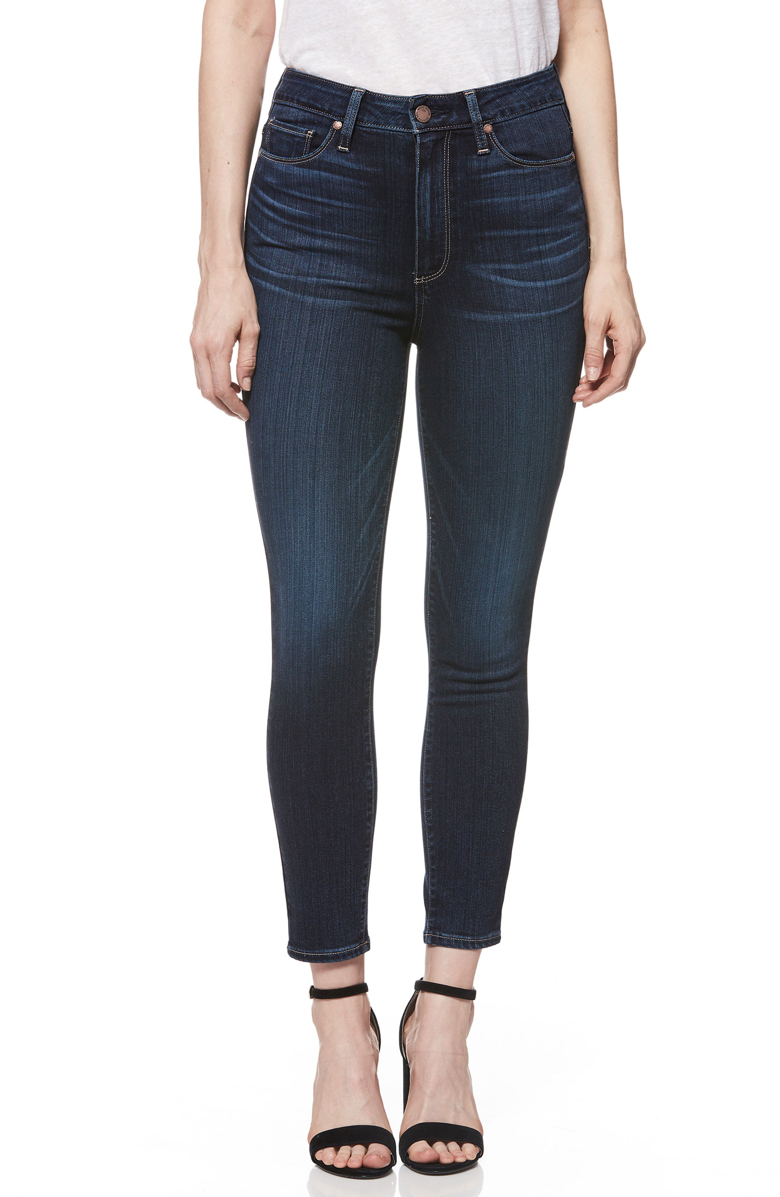 Transcend - Margot High Waist Crop Skinny Jeans,                             Main thumbnail 1, color,                             400