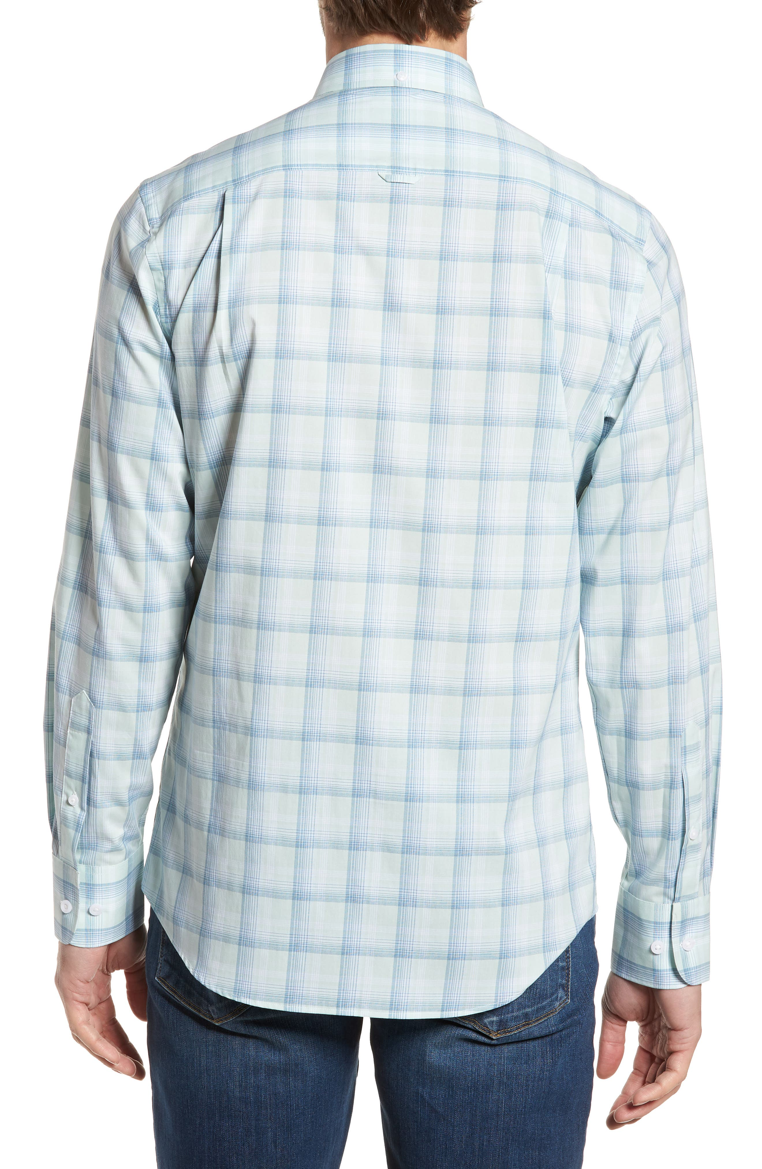 Tech-Smart Regular Fit Plaid Sport Shirt,                             Alternate thumbnail 2, color,                             440