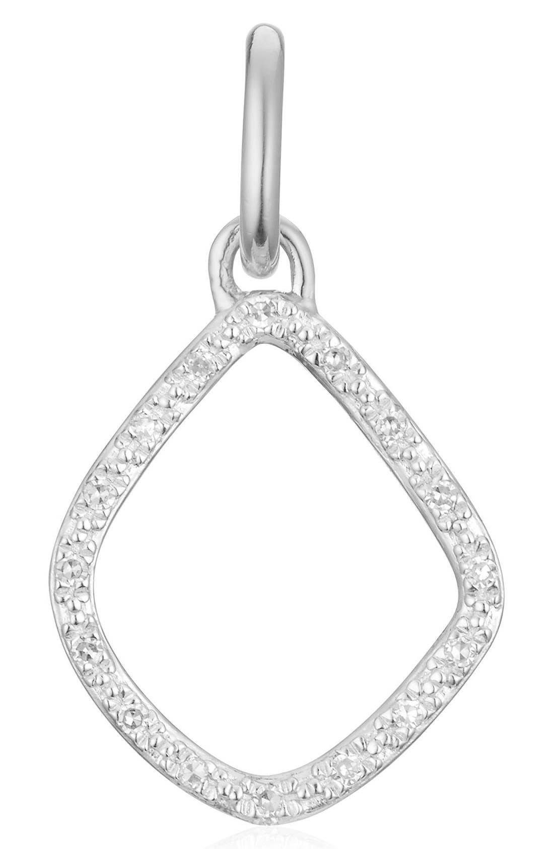 MONICA VINADER,                             Riva Diamond Kite Pendant Charm,                             Main thumbnail 1, color,                             SILVER